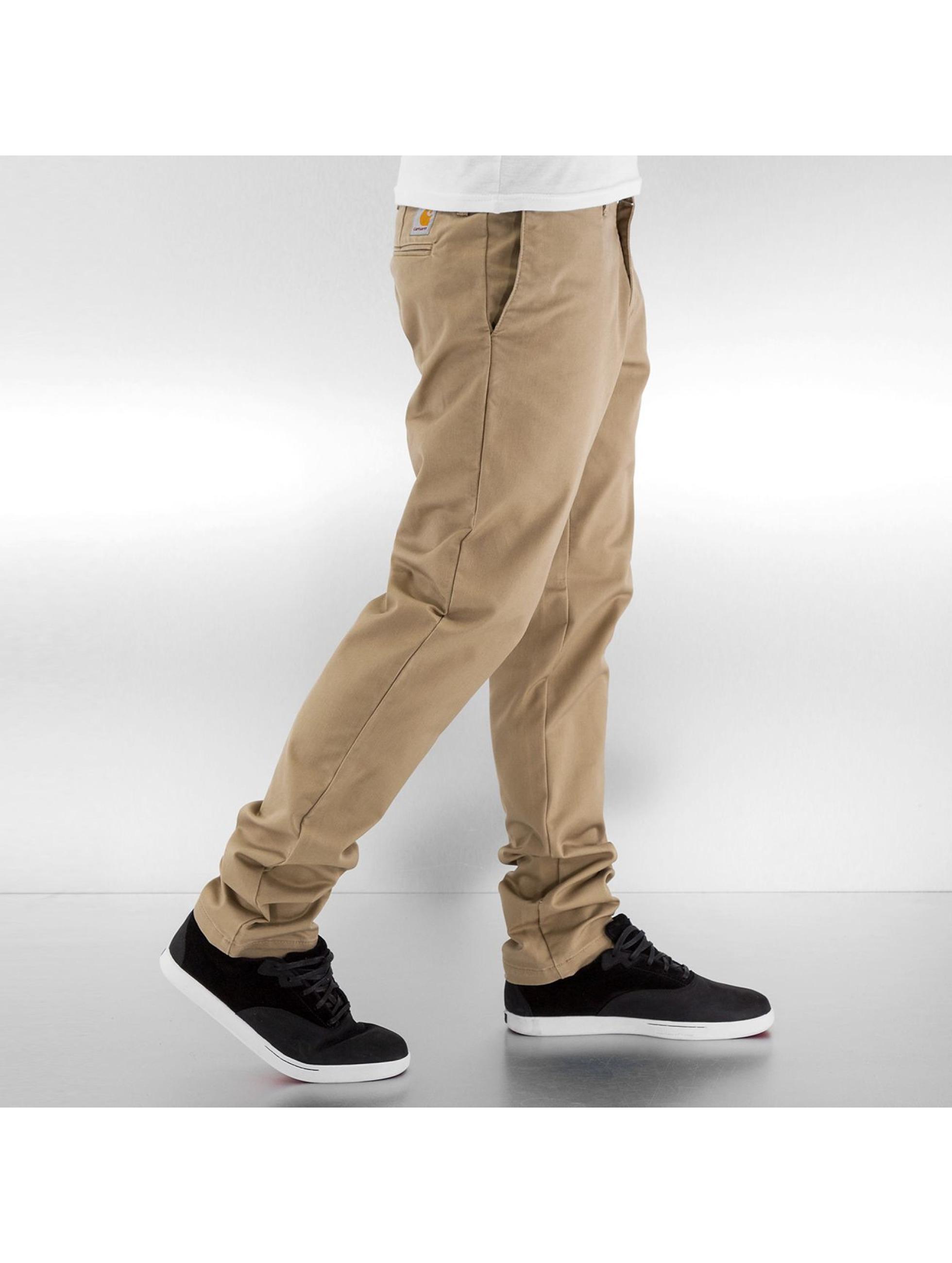 Carhartt WIP Chino Lamar Sid Super Slim Fit Leather beige