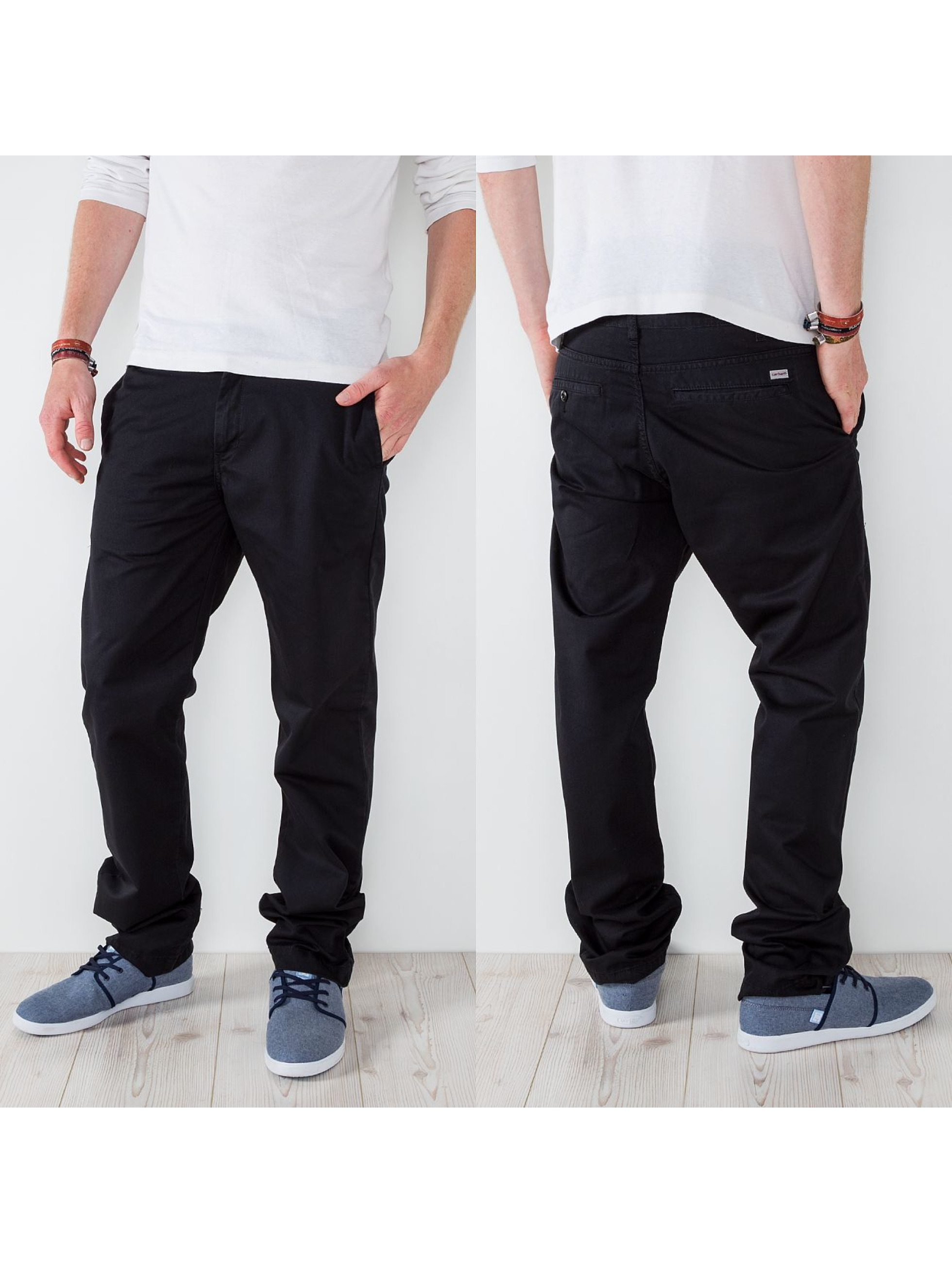 Carhartt WIP Chino Durango Regular Fit Station Chino schwarz
