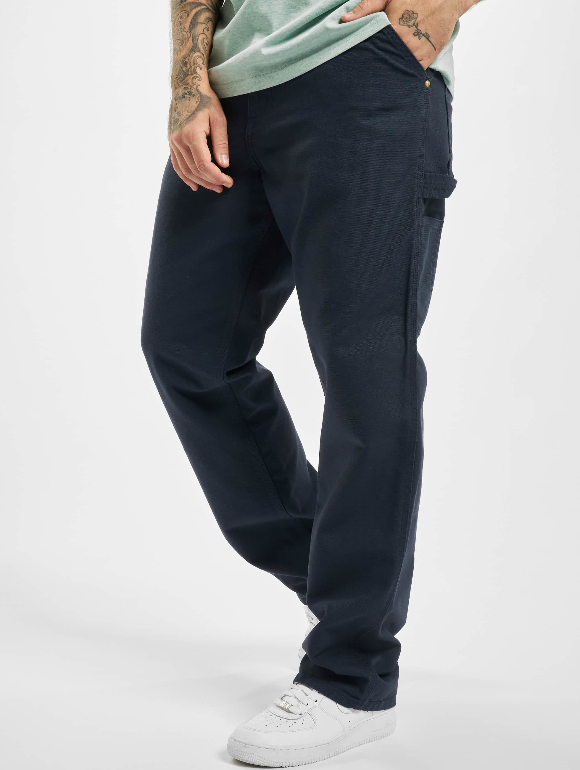 Carhartt WIP Chinot/Kangashousut Turner Single Knee sininen
