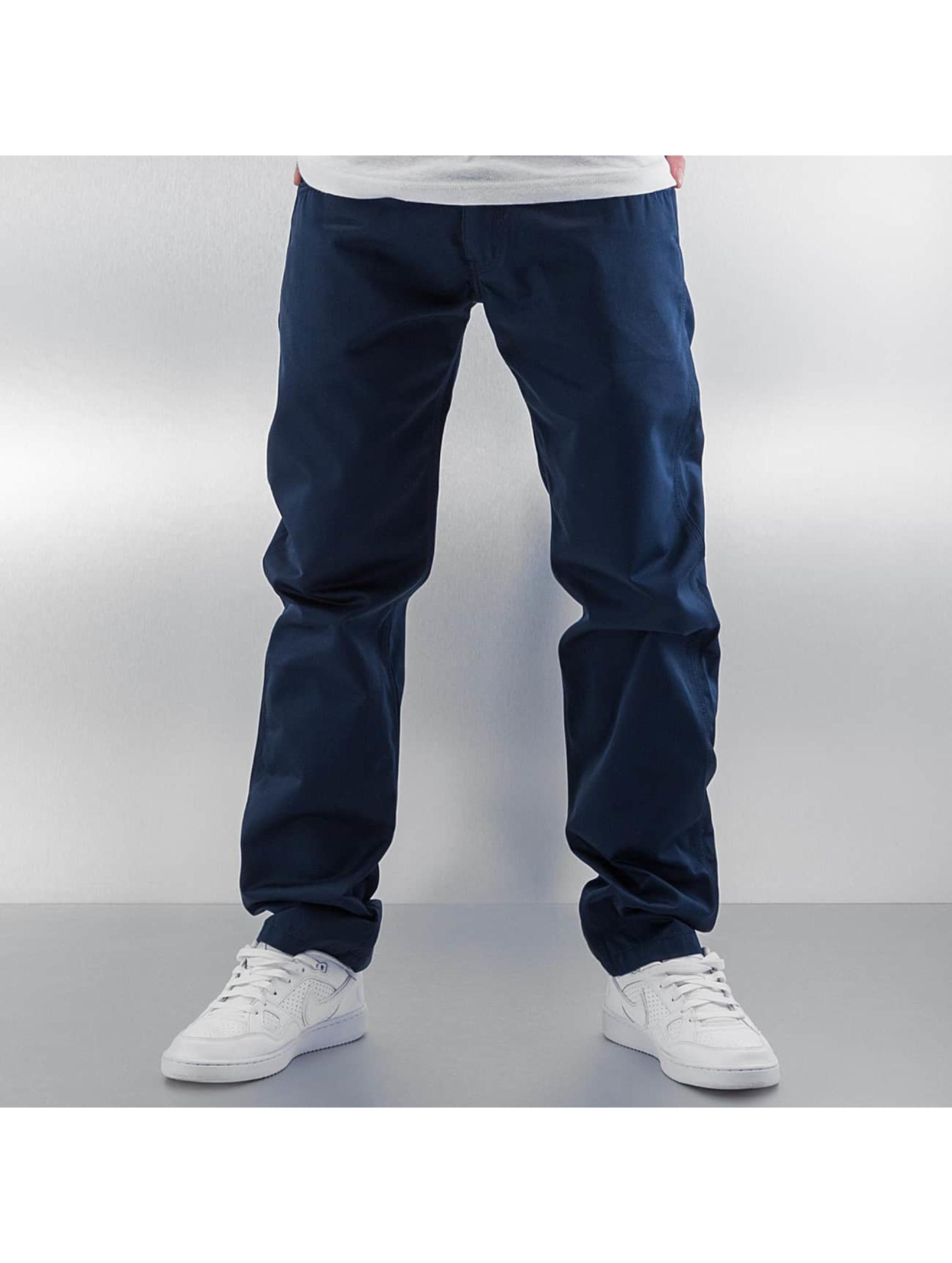 Carhartt WIP Løstsittende bukser Cortez Slim Fit Skill blå