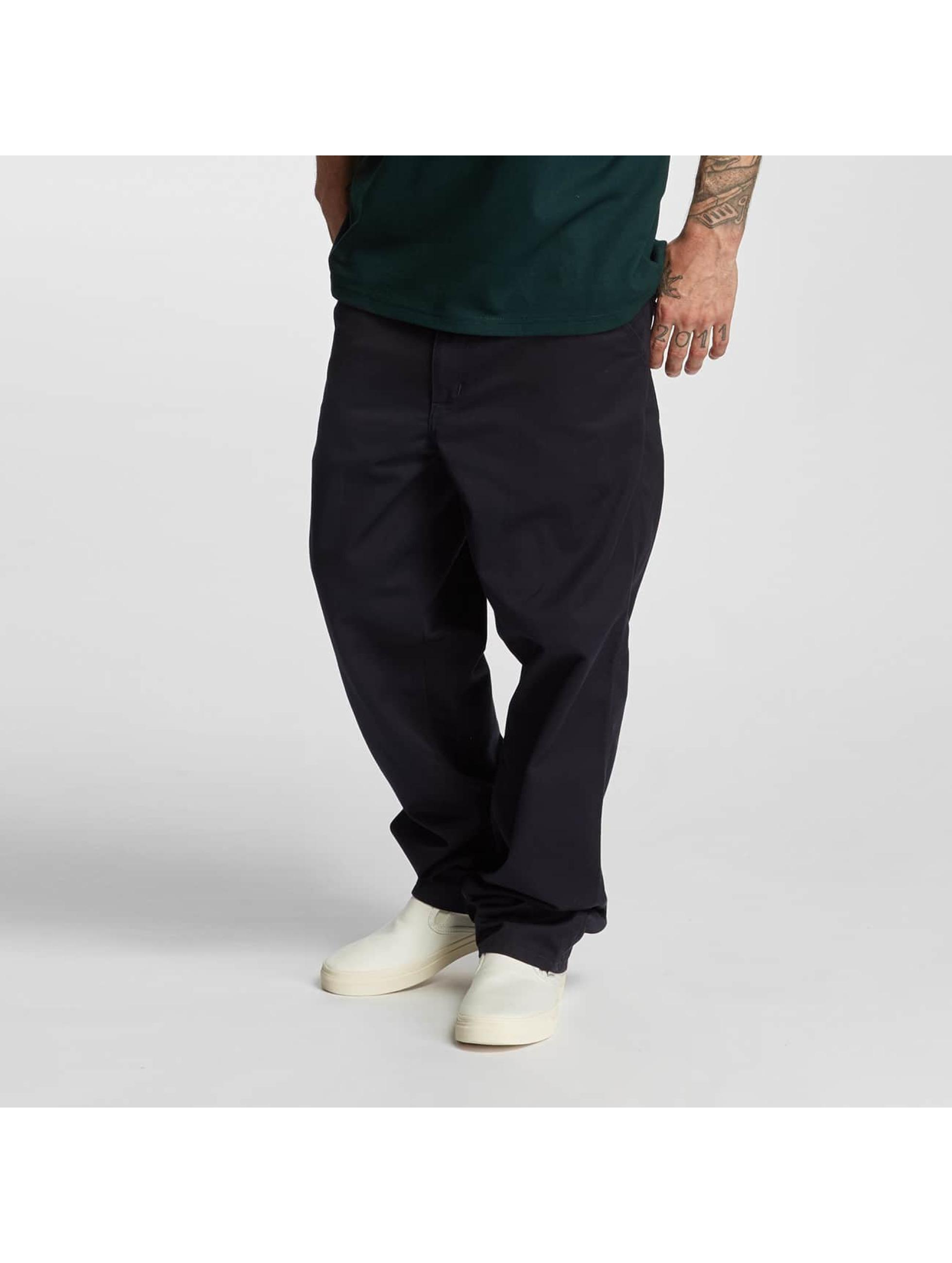 Carhartt WIP Løstsittende bukser Denison Twilll Simple blå