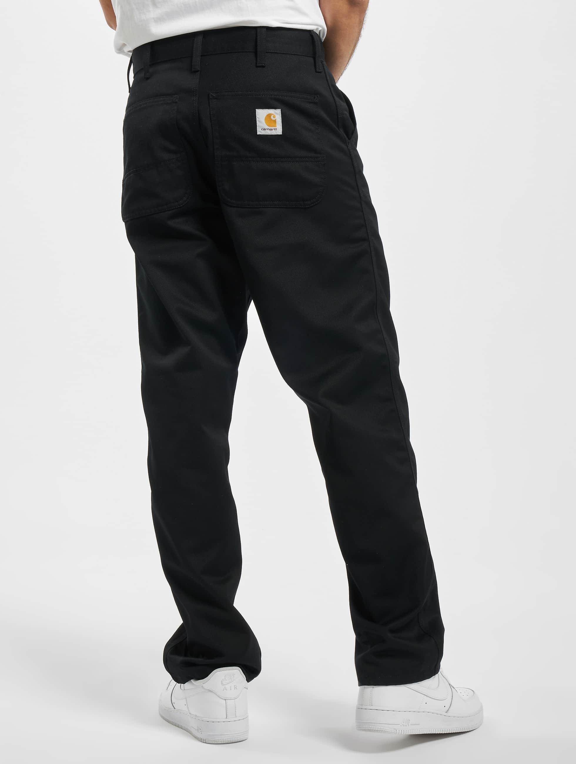 Carhartt WIP Løstsittende bukser Denison Twill Simple svart