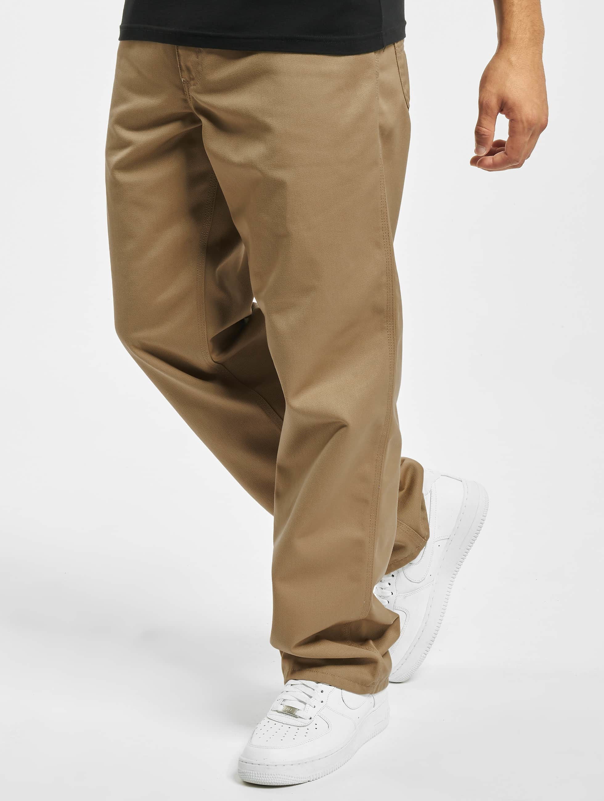 Carhartt WIP Loose Fit Jeans Denison Twill Simple bezowy