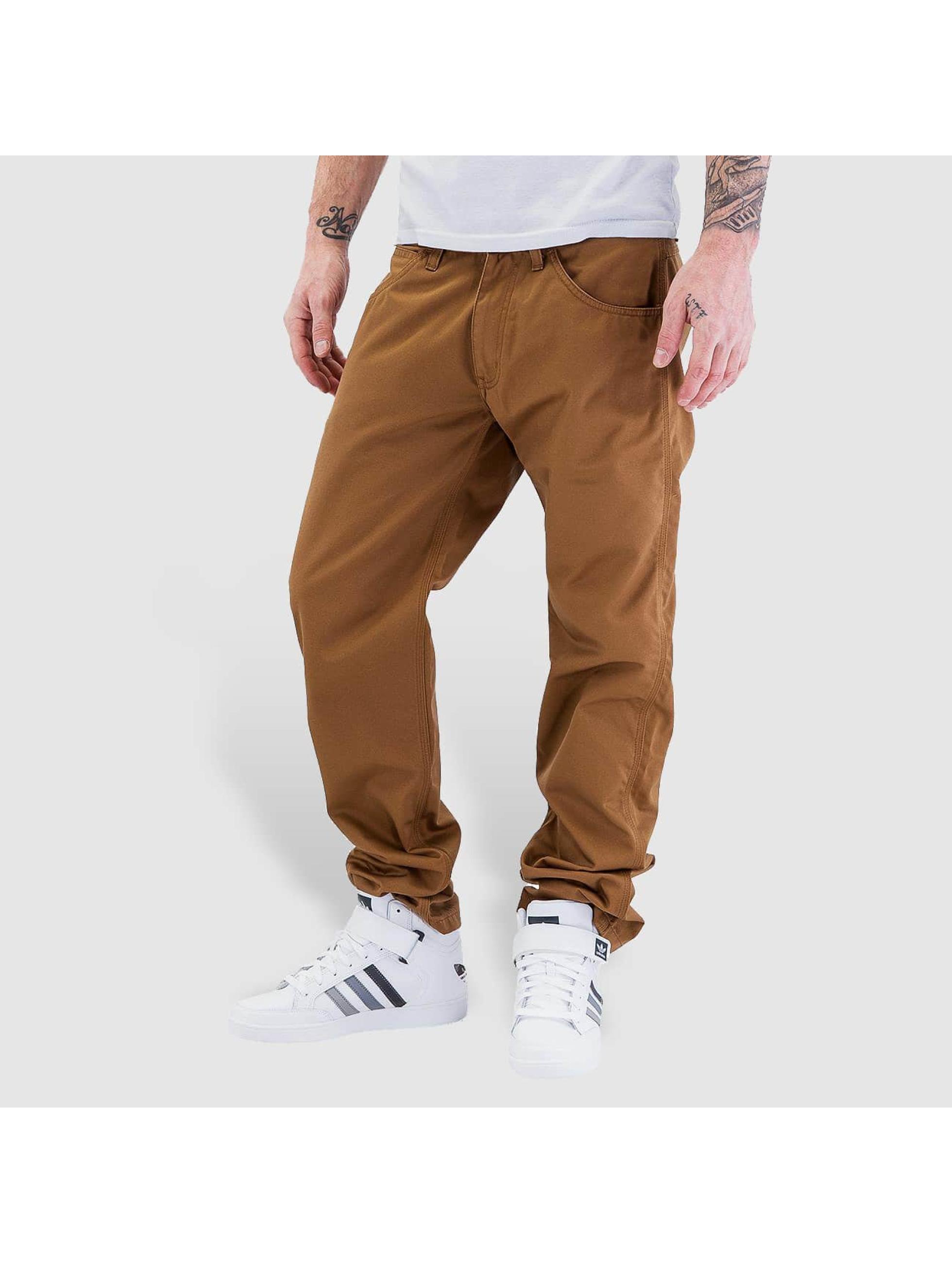 Carhartt WIP Loose Fit Jeans Cortez Slim Fit Skill braun