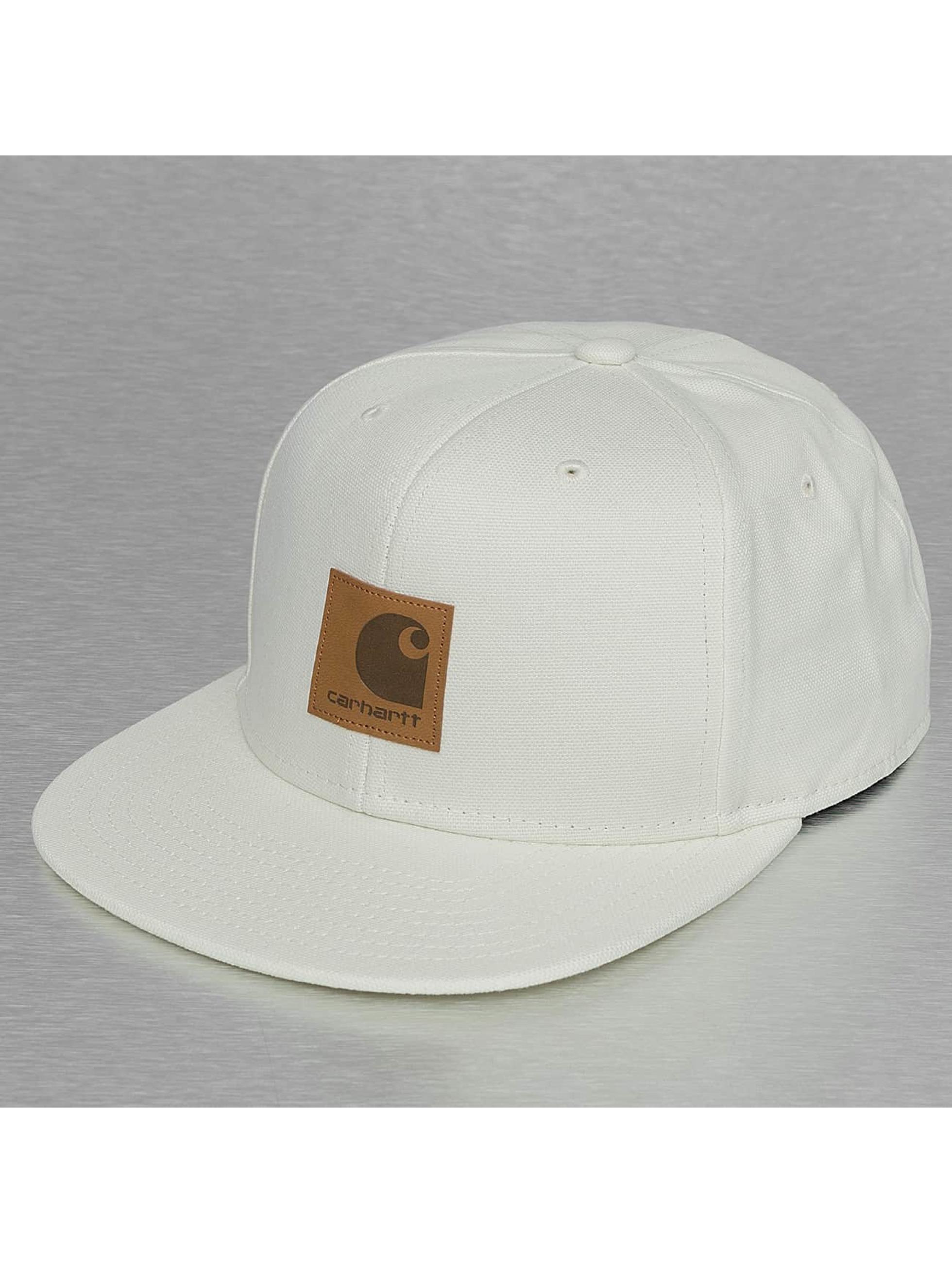 Carhartt WIP Snapback Cap Logo Canvas white