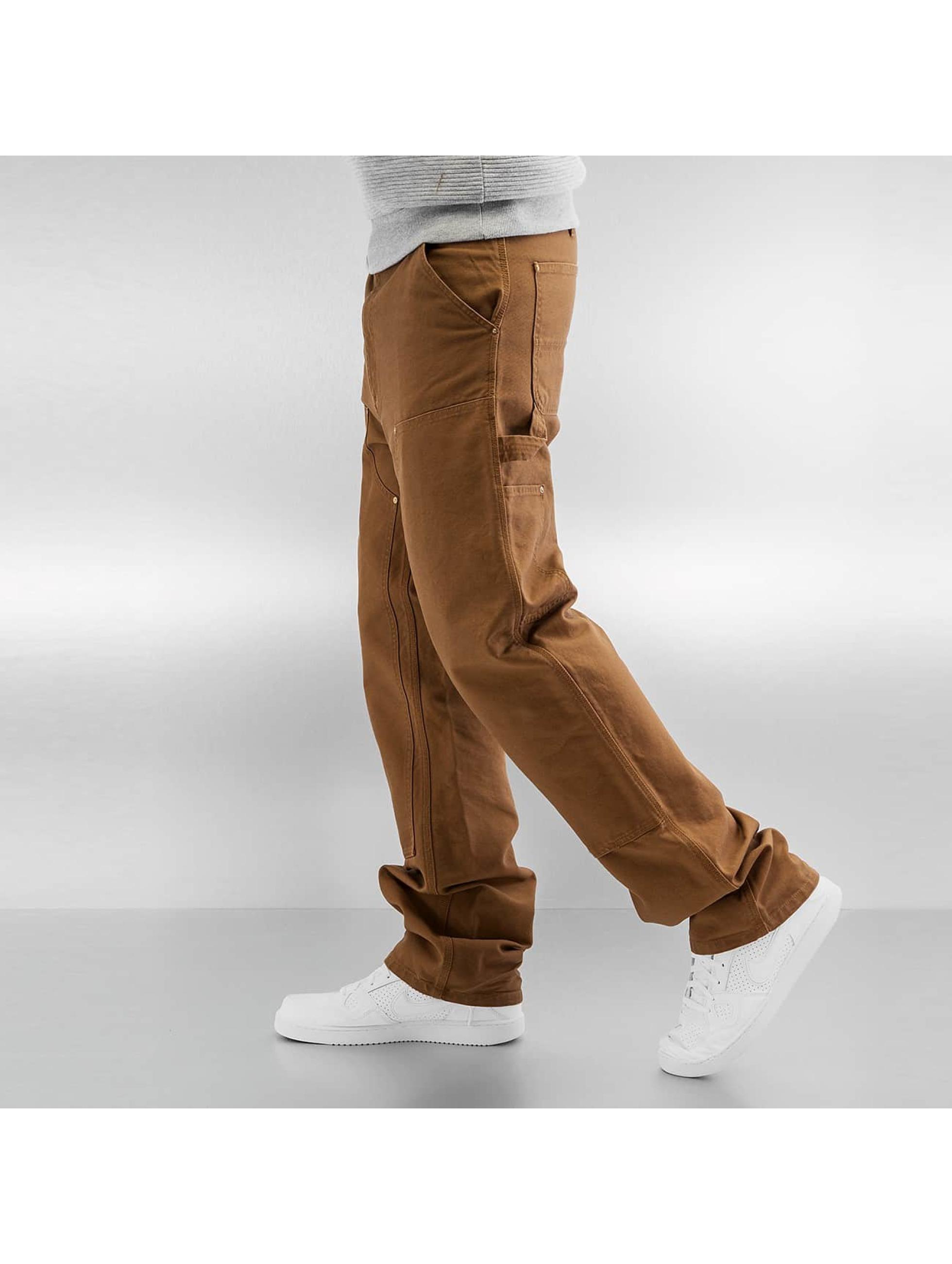 Carhartt WIP Straight Fit farkut Turner Double Knee ruskea