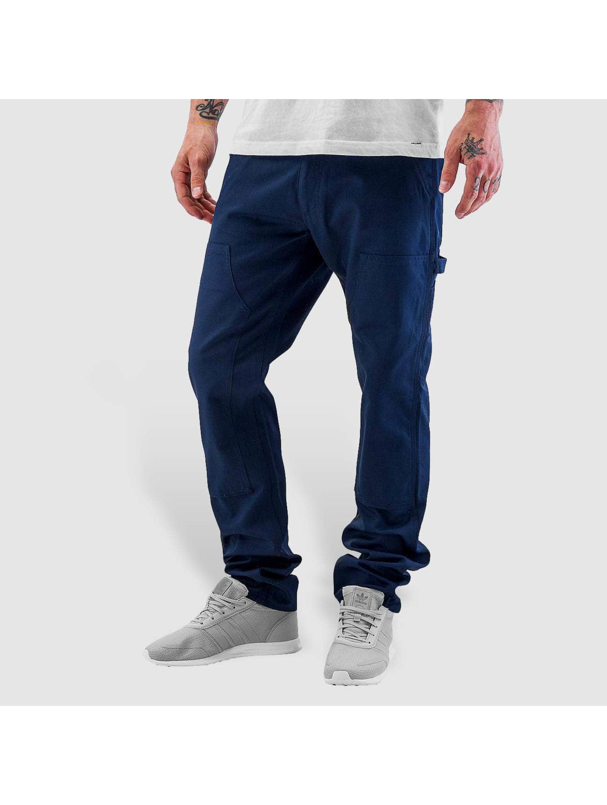 Carhartt WIP Straight Fit farkut Lincoln Double Knee sininen