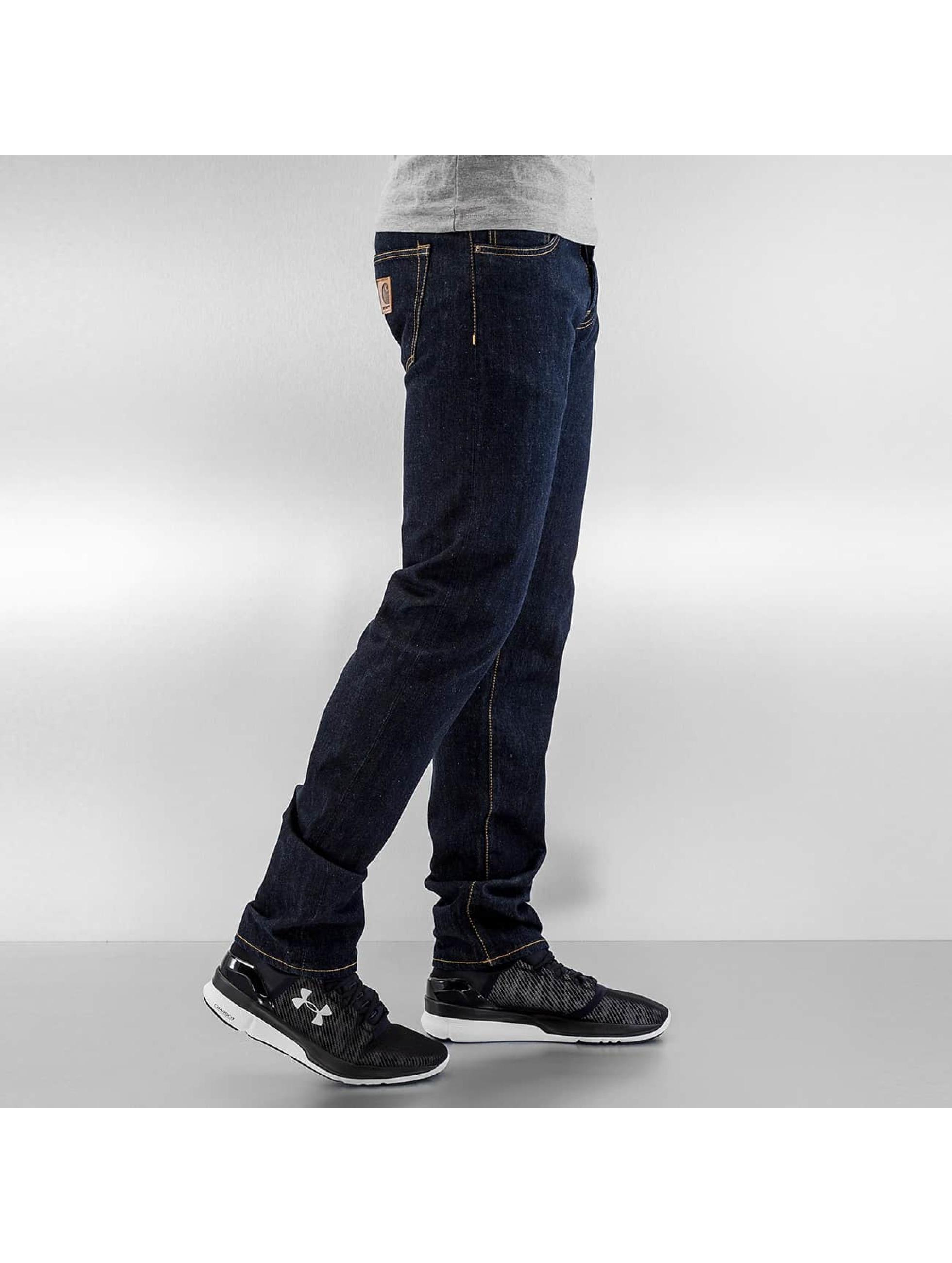 Carhartt WIP Straight Fit Jeans Hanford Buccaneer blå