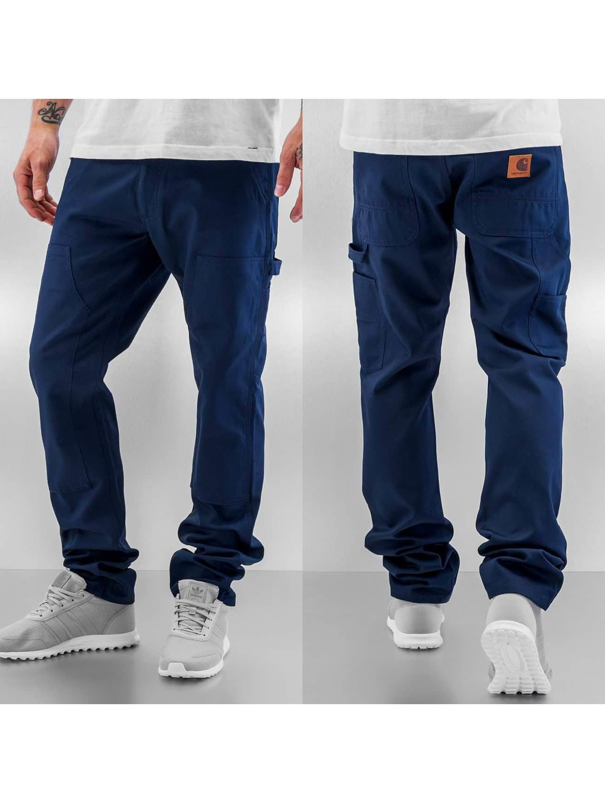 Carhartt WIP Straight Fit Jeans Lincoln Double Knee blå