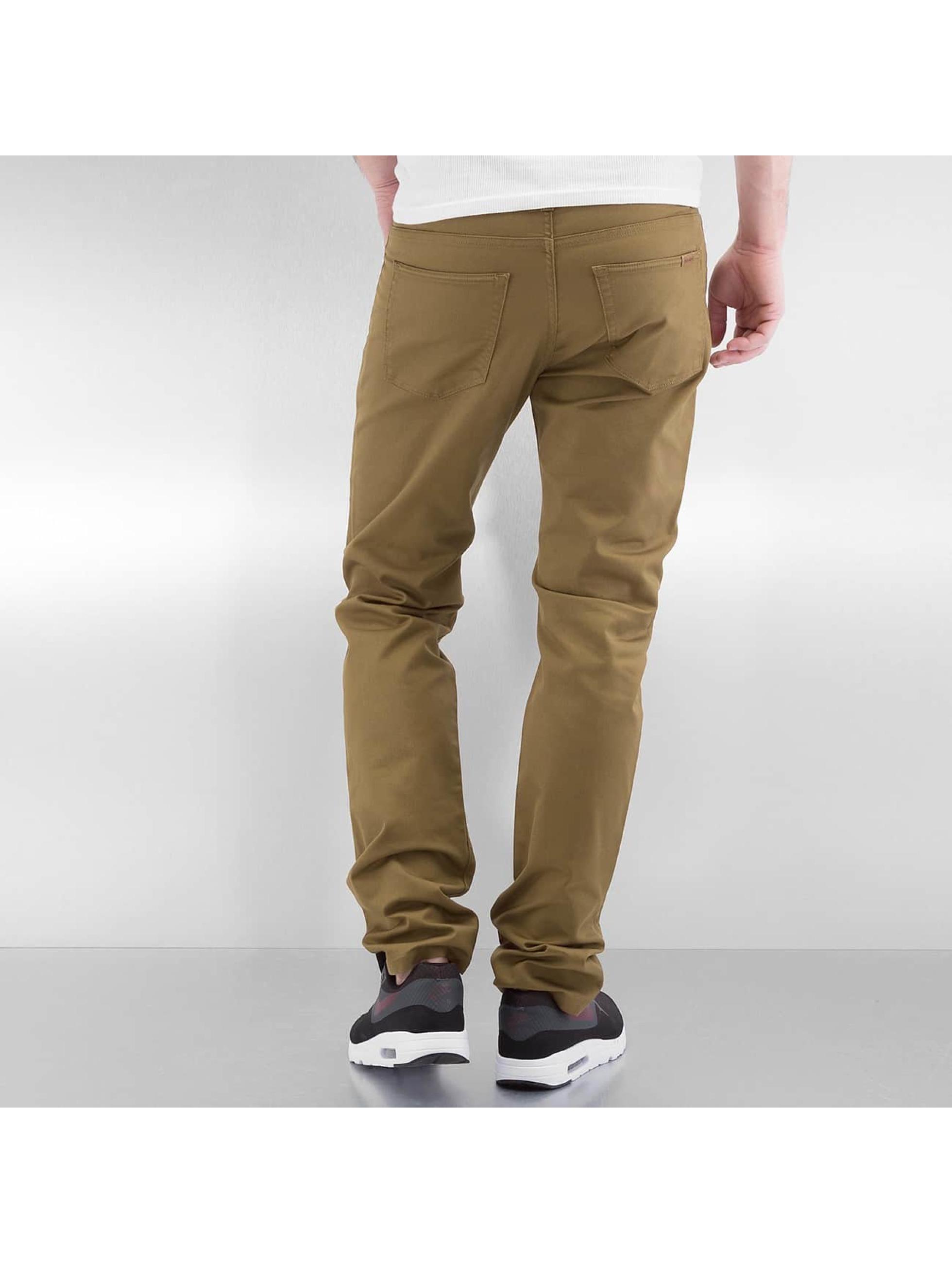 carhartt wip herren straight fit jeans hamilton in braun. Black Bedroom Furniture Sets. Home Design Ideas