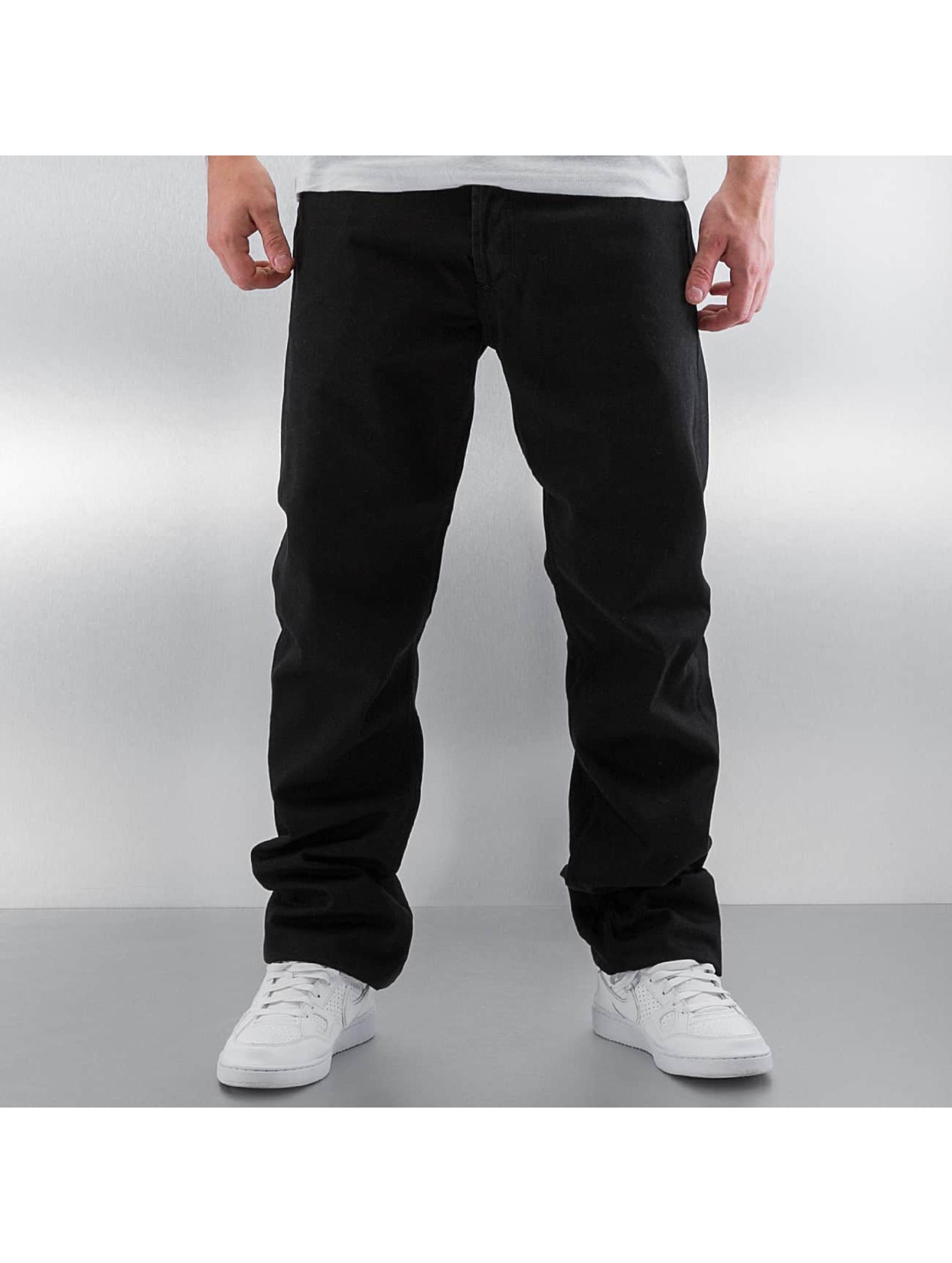 Carhartt WIP Straight Fit Jeans Chicago Texas svart