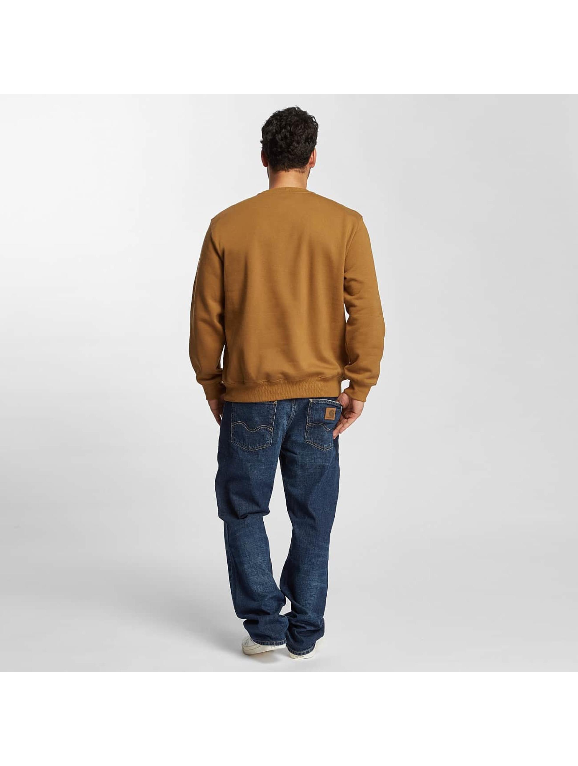Carhartt WIP Swetry frequenzy brazowy