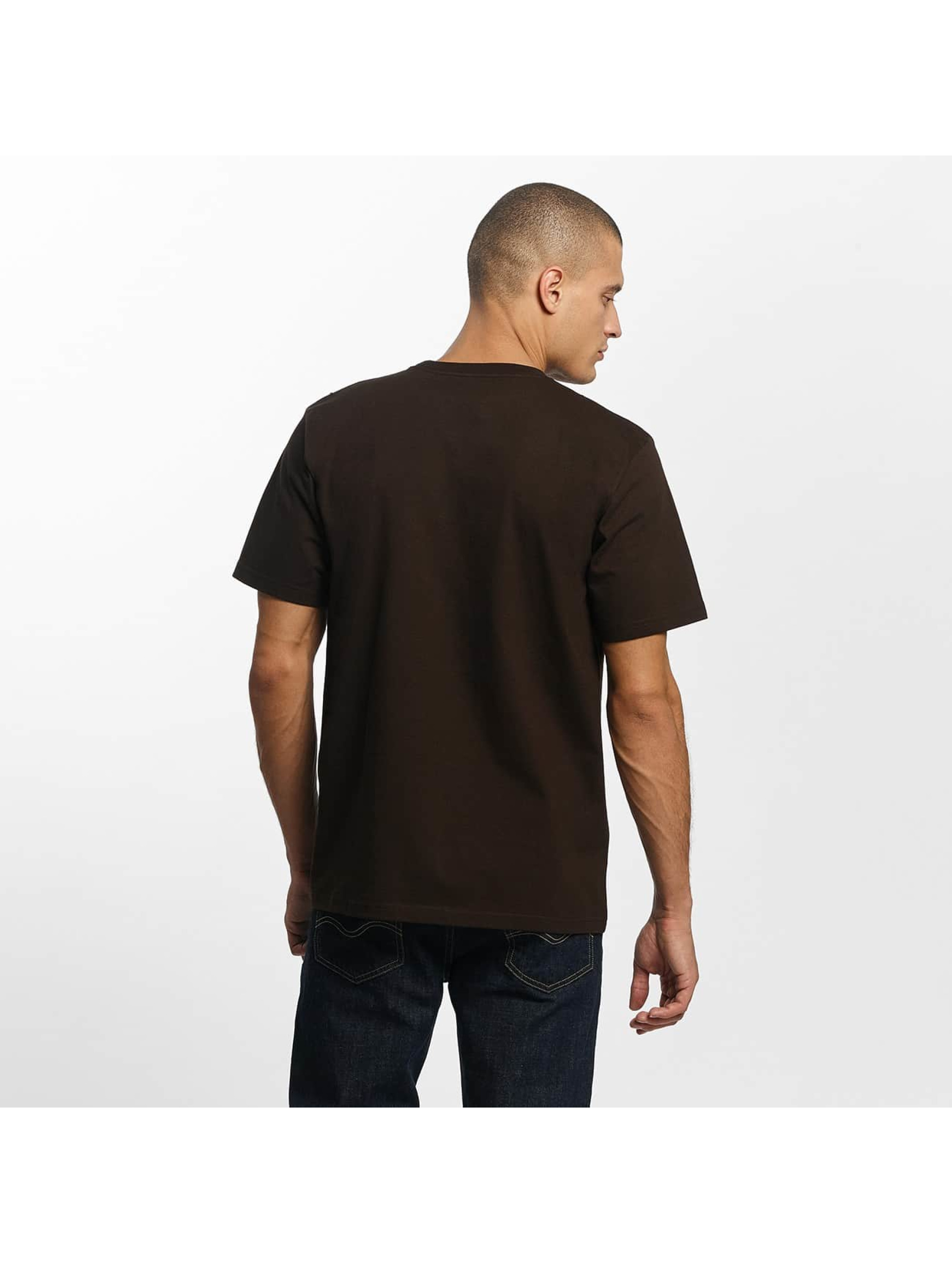 Carhartt WIP T-Shirty Chase brazowy