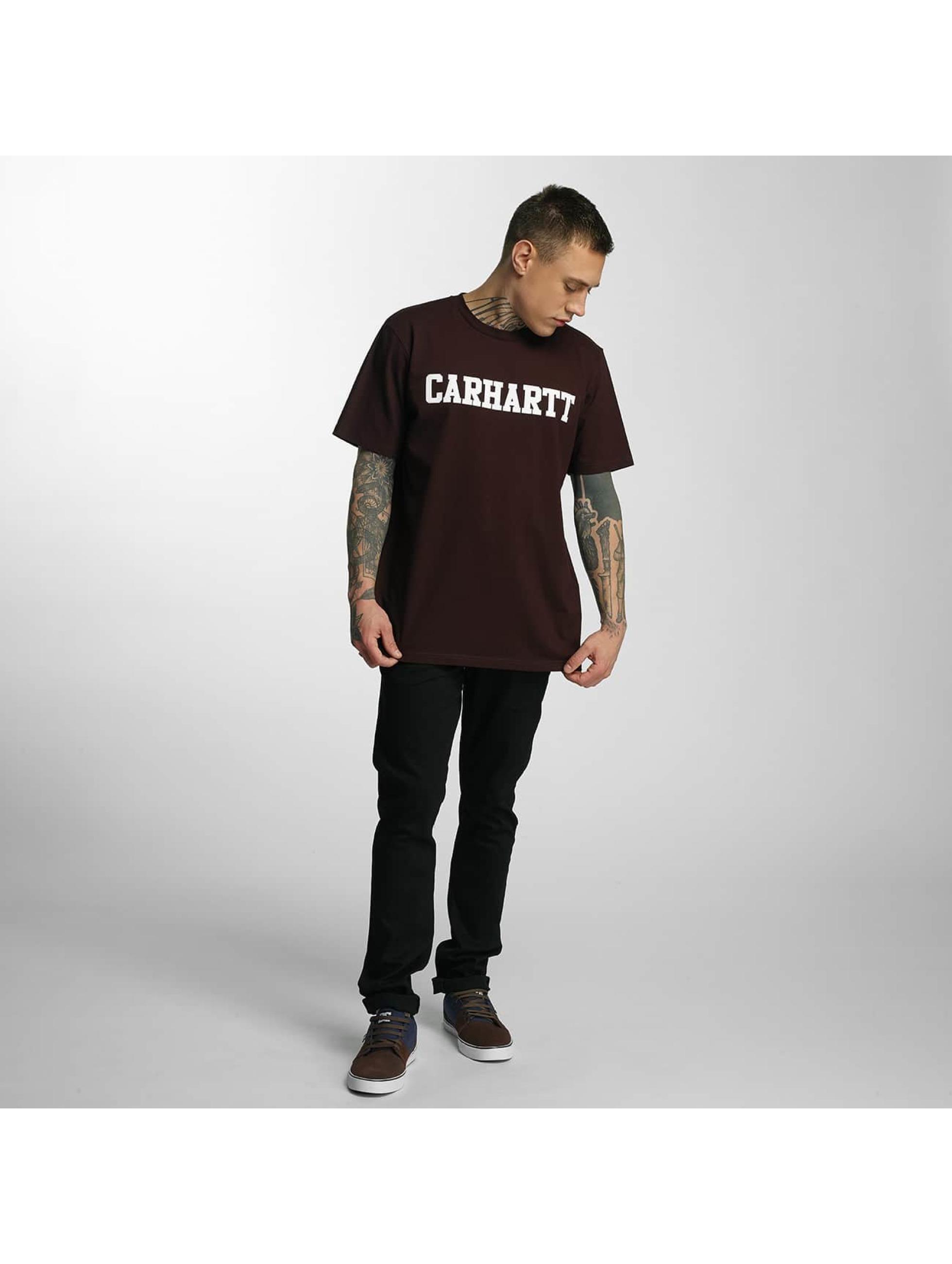 Carhartt WIP T-Shirty College czerwony