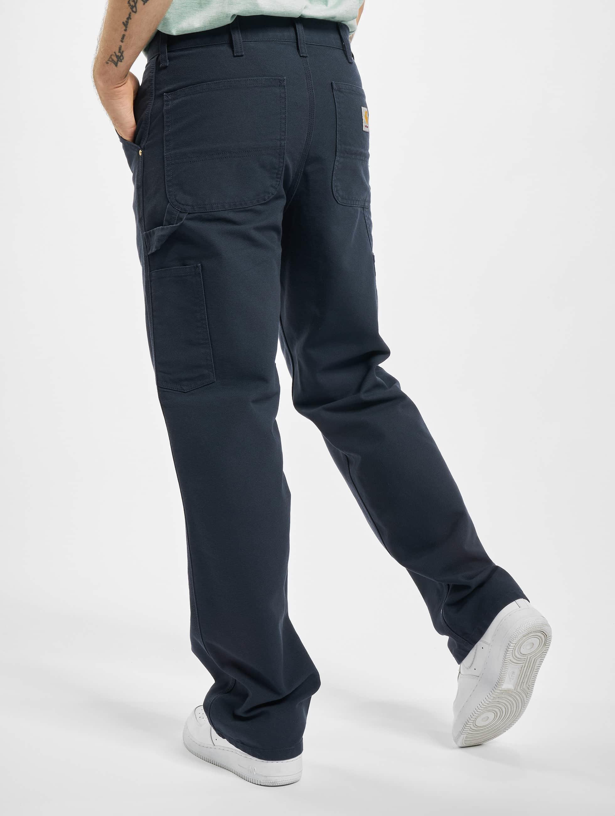 Carhartt WIP Tygbyxor Turner Single Knee blå