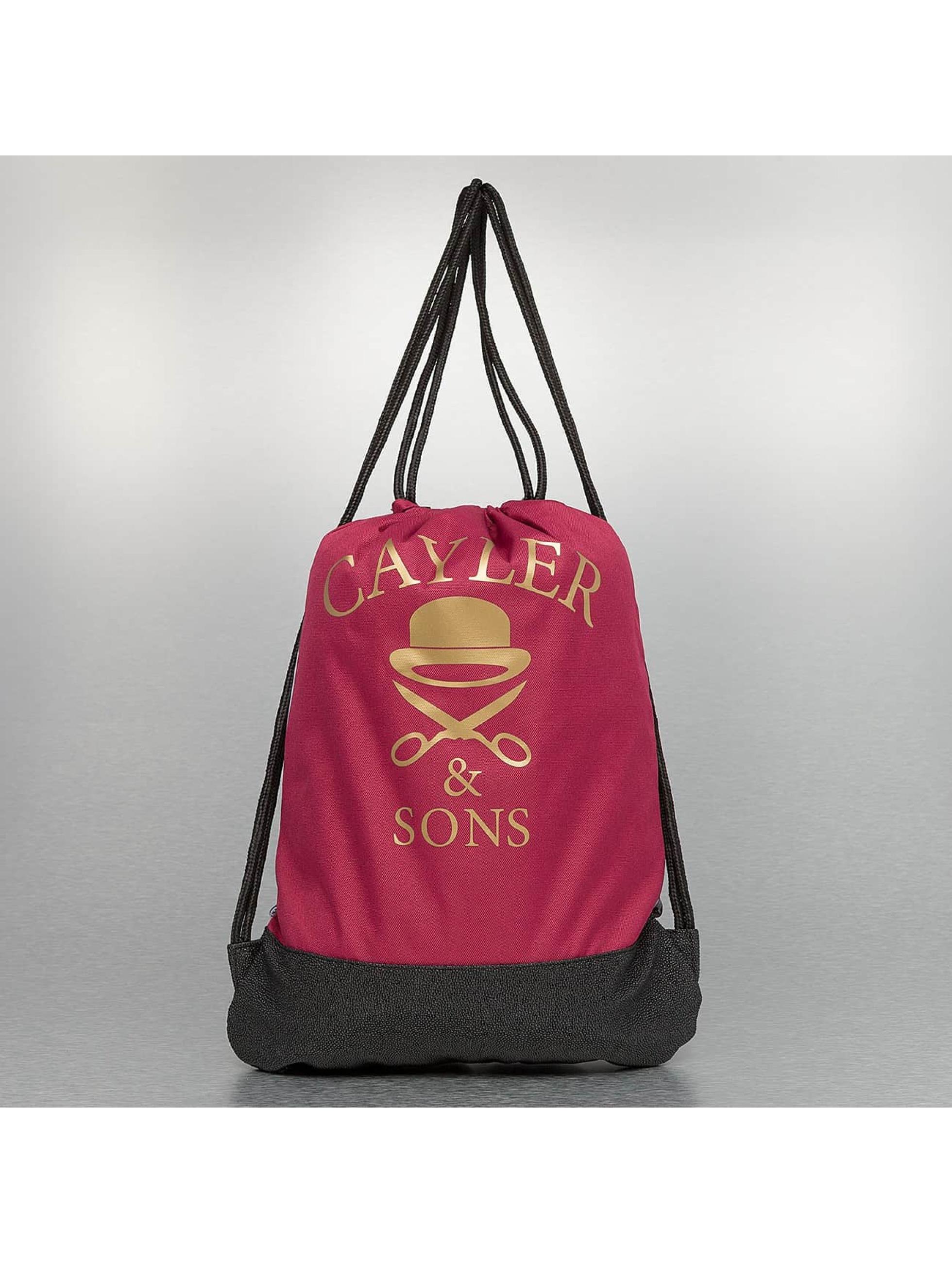 Cayler & Sons Sac à cordons White Label Paris Skyline rouge