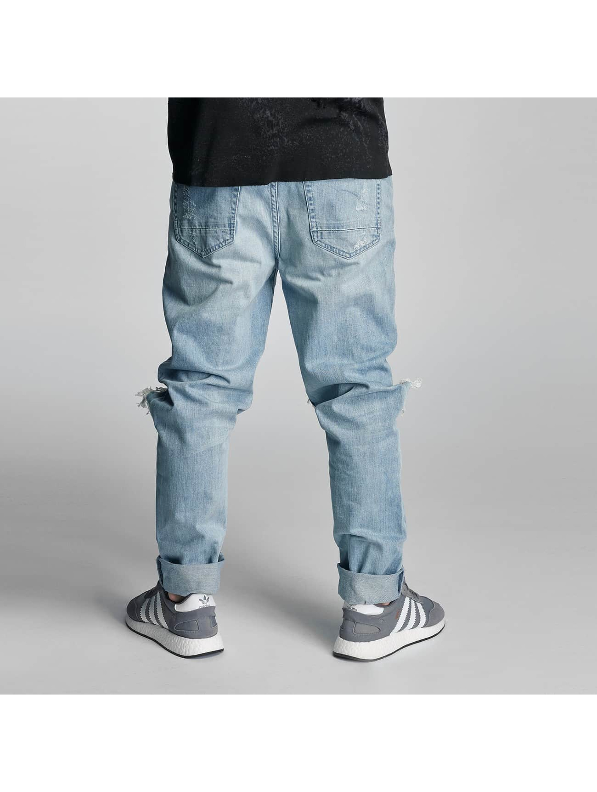 Cayler & Sons Straight Fit Jeans destroyed blau