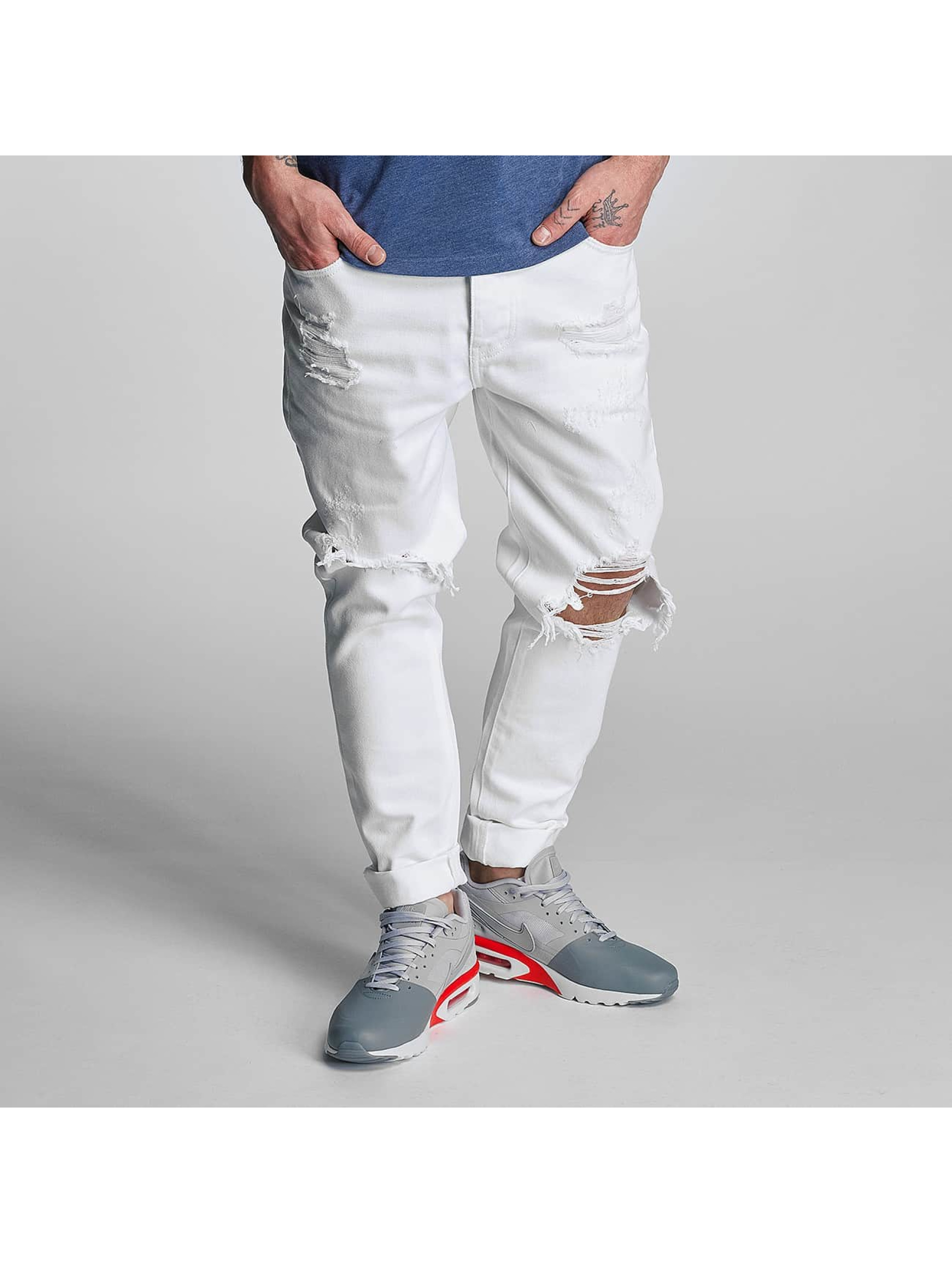 Cayler & Sons Straight Fit Jeans destroyed in weiß