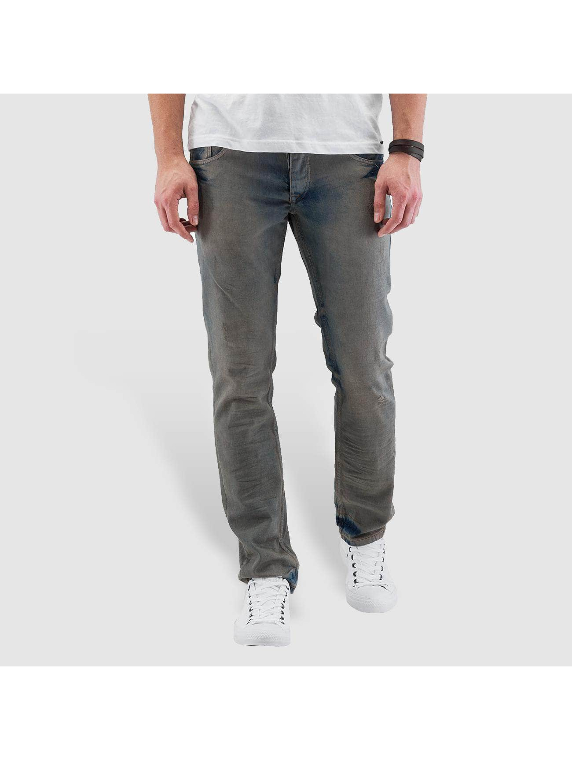 Cazzy Clang Straight Fit Jeans Washed blau