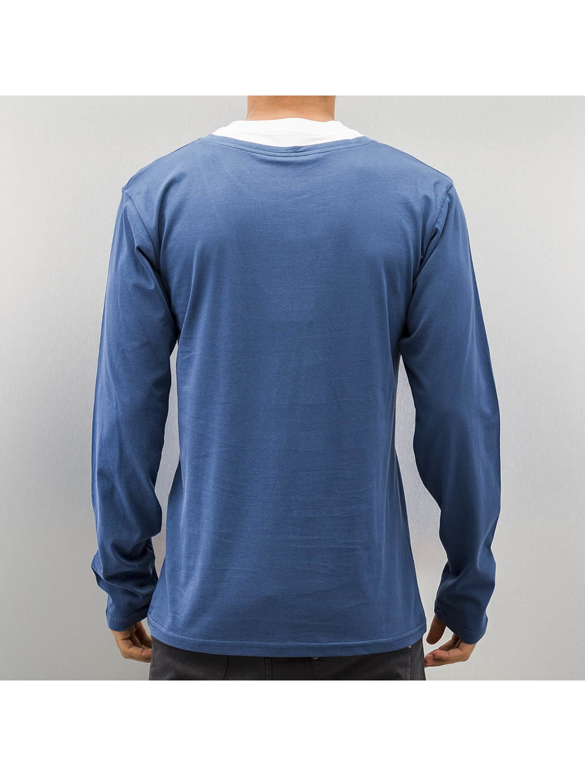Cazzy Clang T-Shirt manches longues Breast Pocket bleu