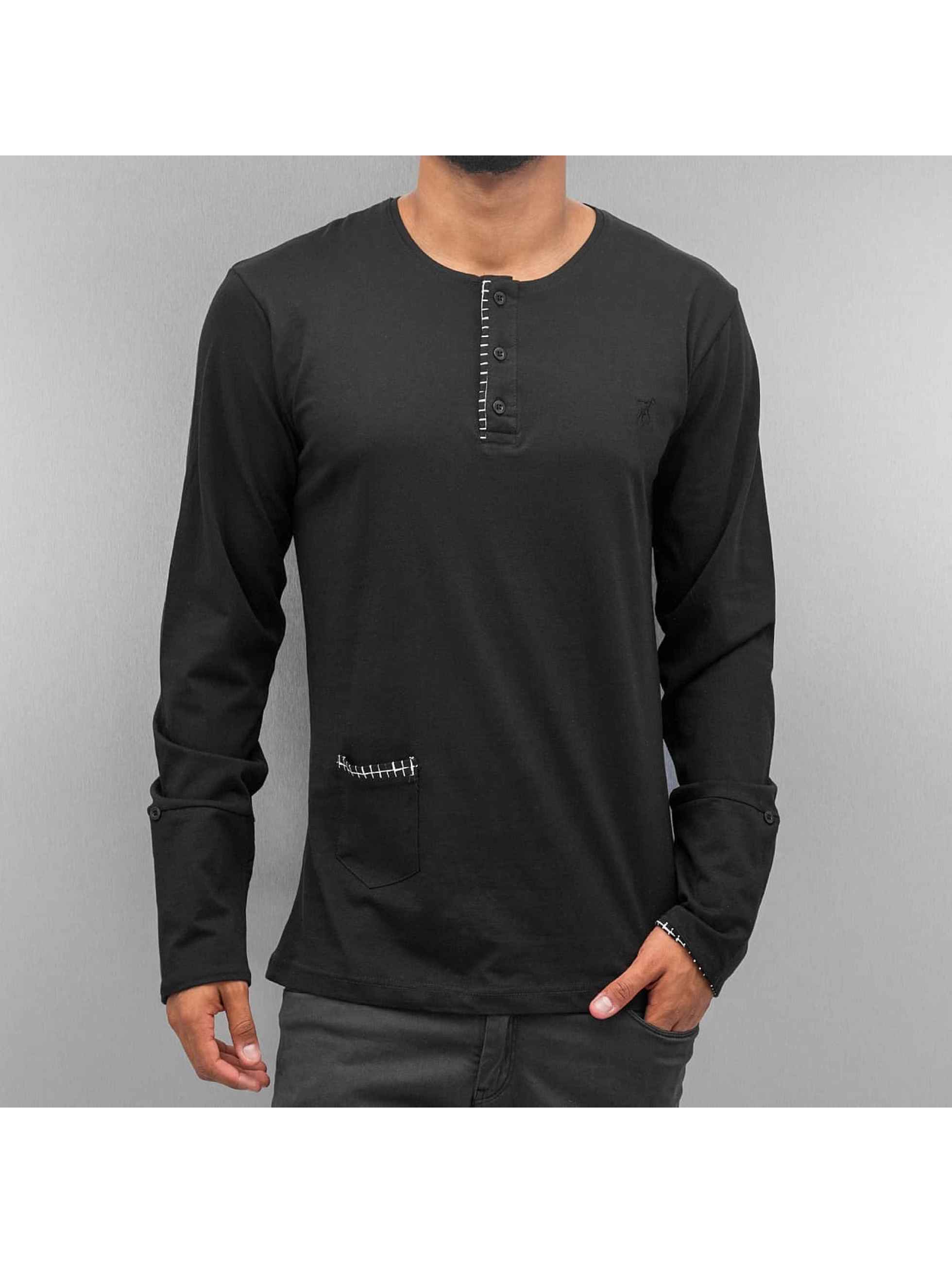 Cazzy Clang T-Shirt manches longues Square noir