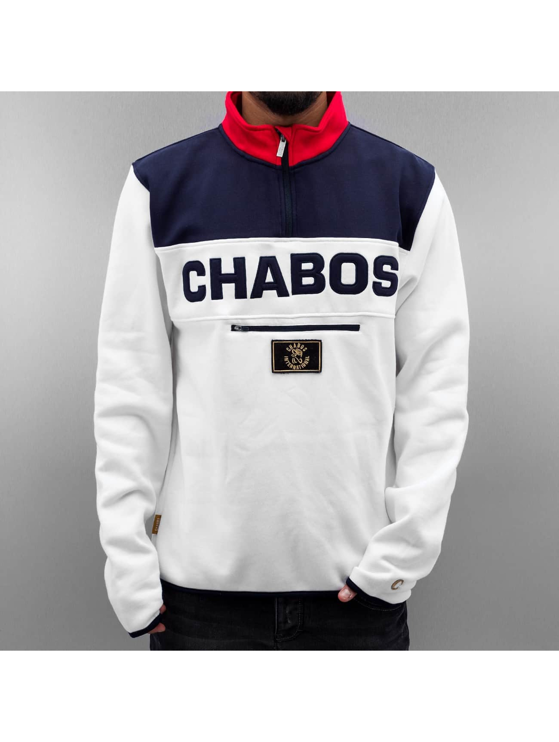 CHABOS IIVII Пуловер Athletics Half-Zip белый