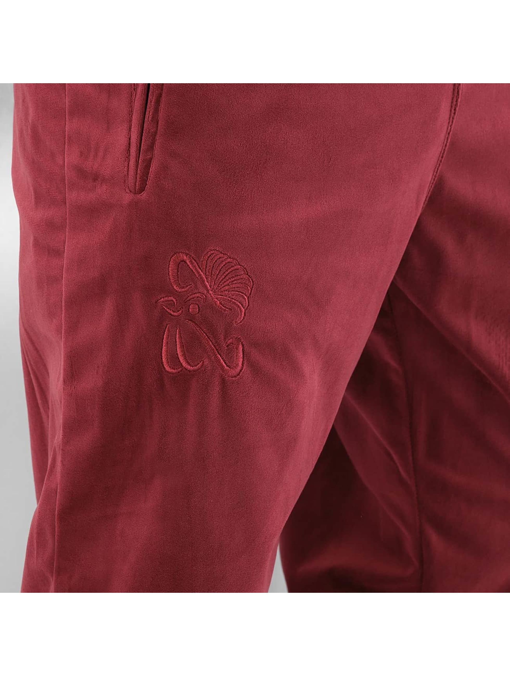 CHABOS IIVII Joggingbyxor Core Velour Samt röd