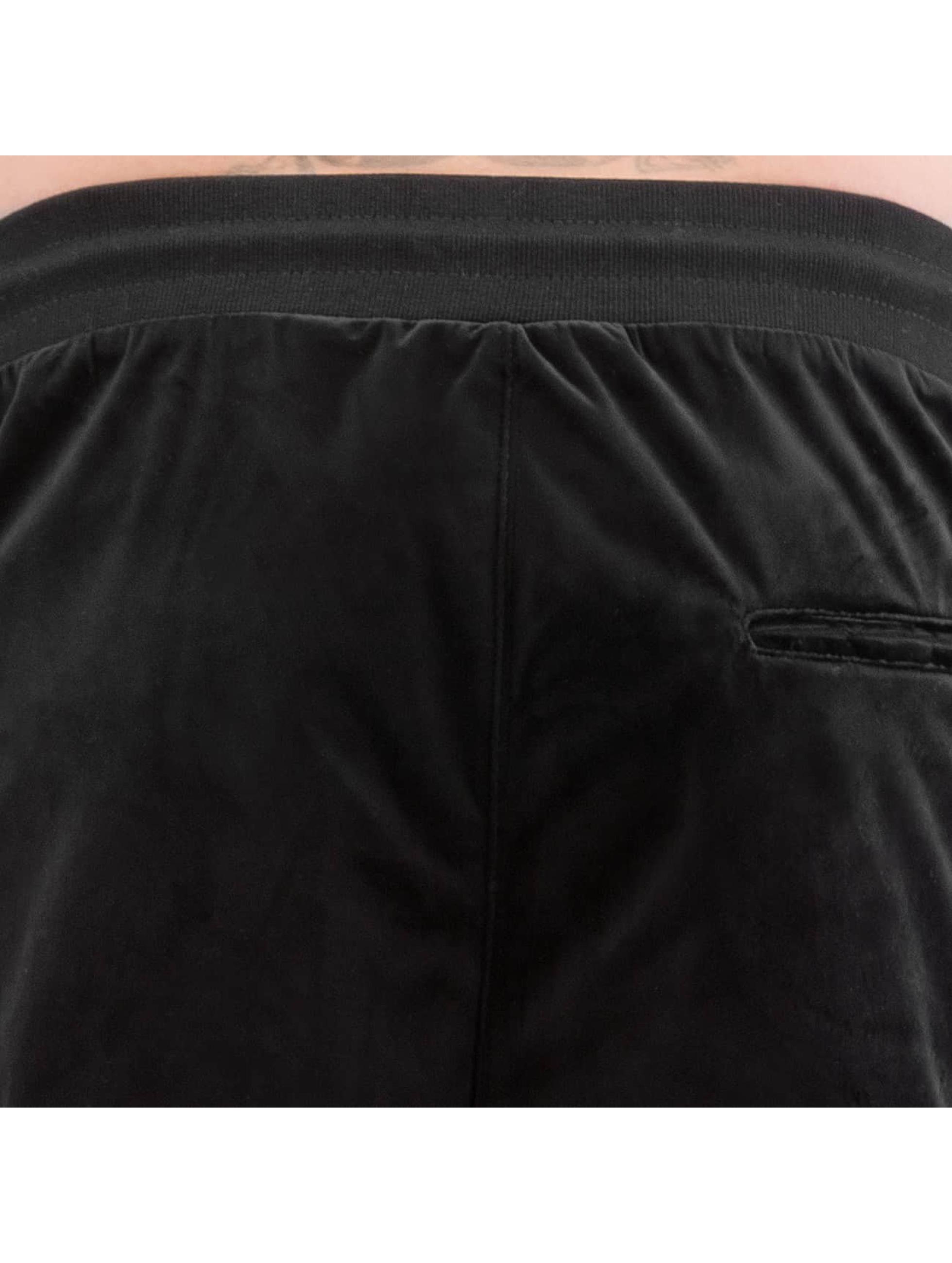 CHABOS IIVII Jogginghose Core Velour Samt schwarz