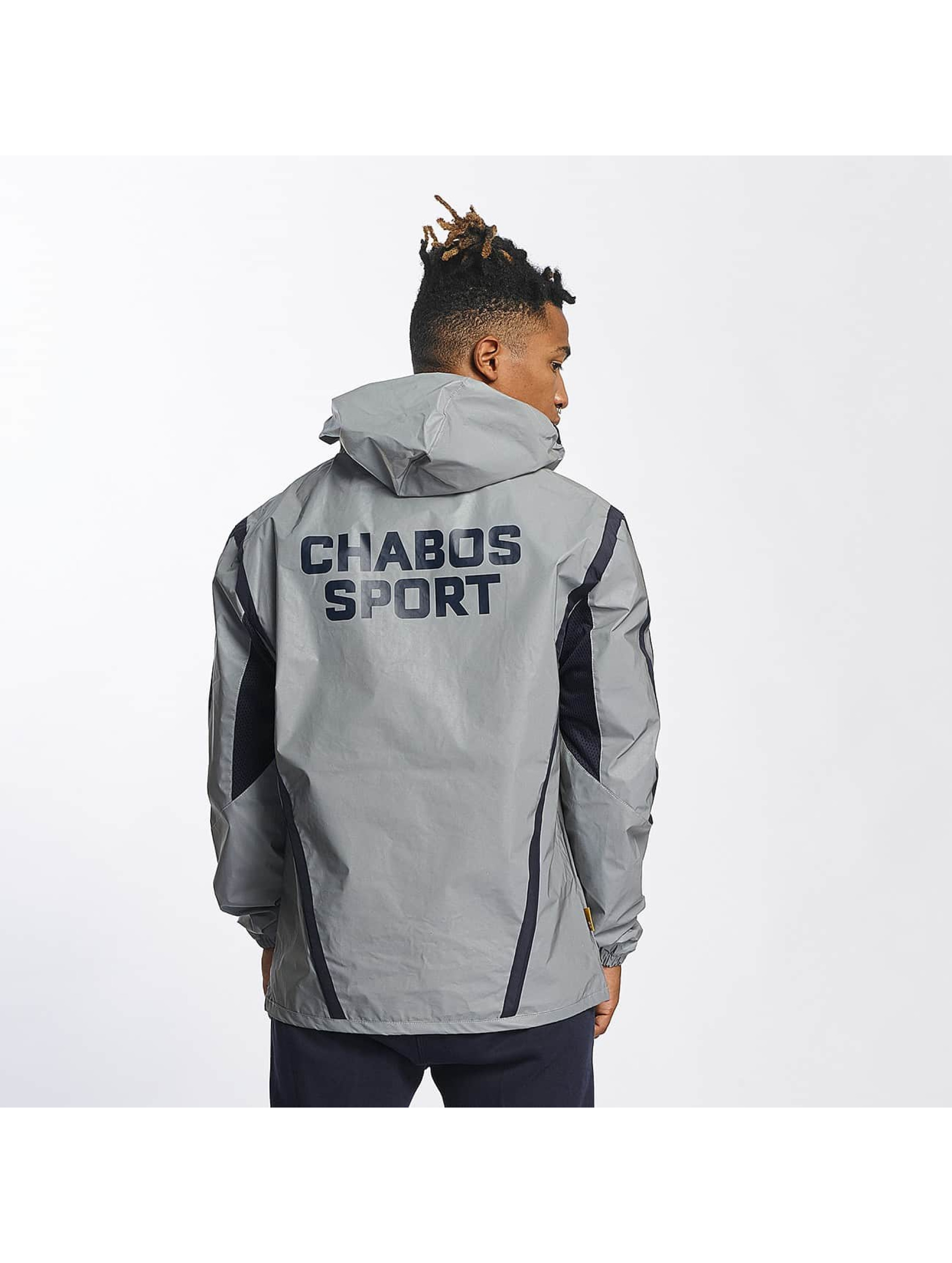 CHABOS IIVII Lightweight Jacket Half Zip Hooded grey