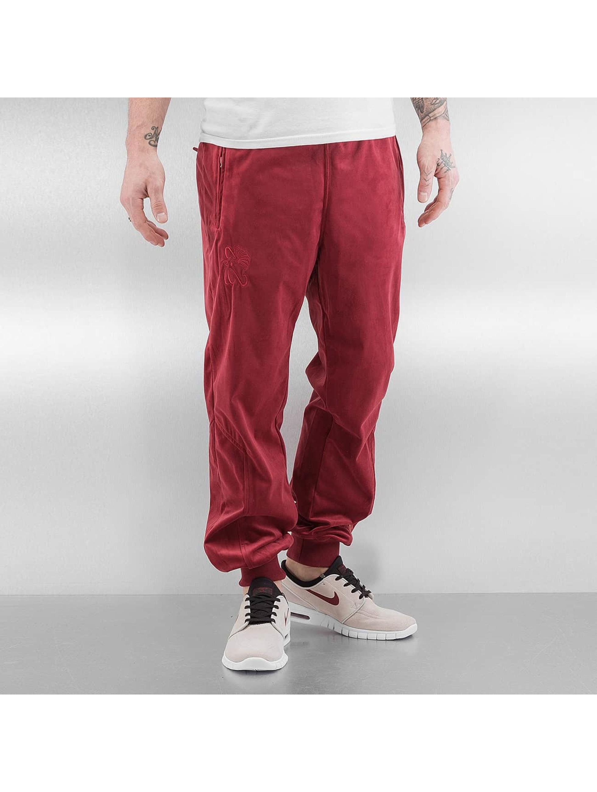 CHABOS IIVII Pantalone ginnico Core Velour Samt rosso