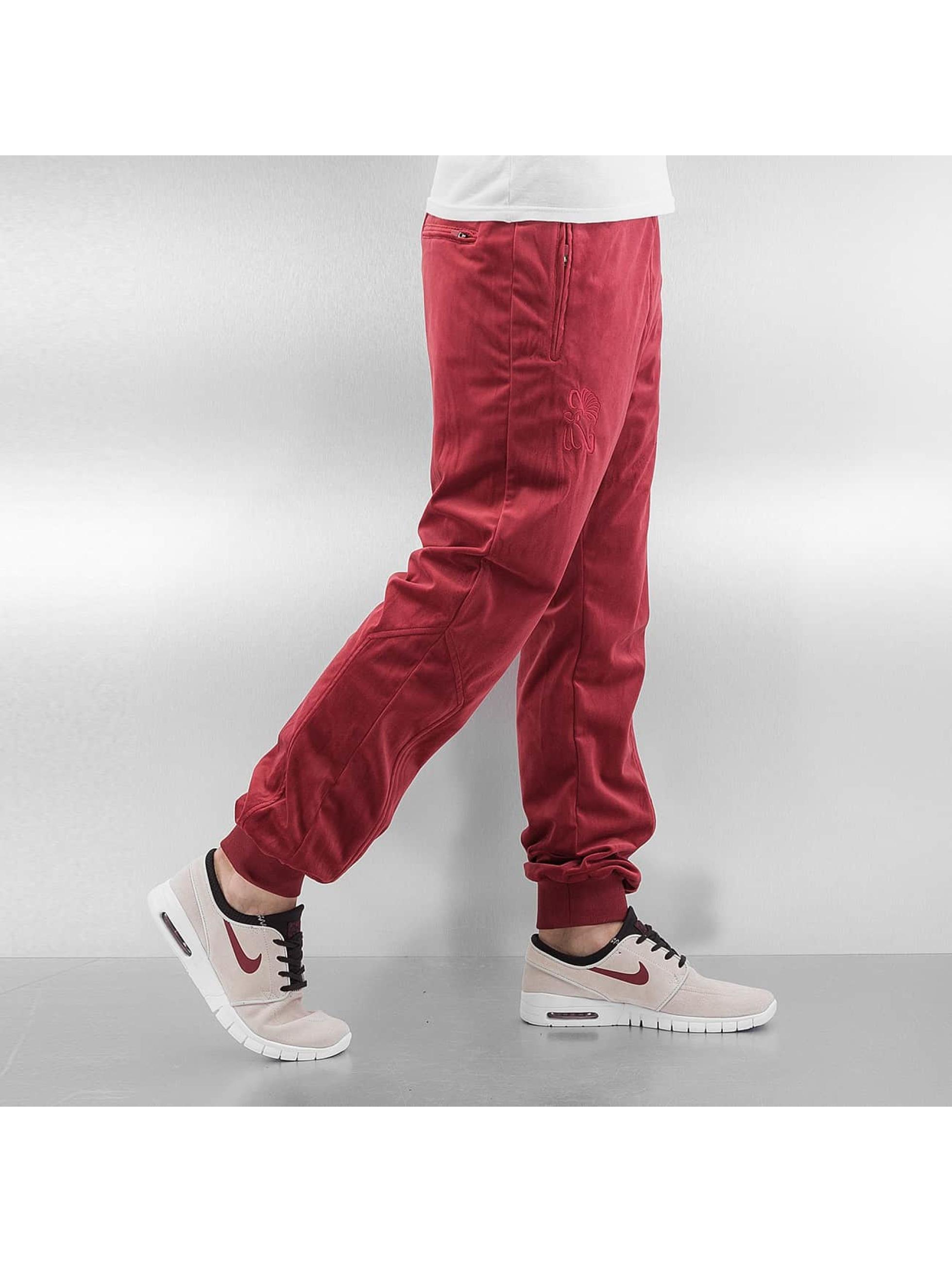 CHABOS IIVII Spodnie do joggingu Core Velour Samt czerwony