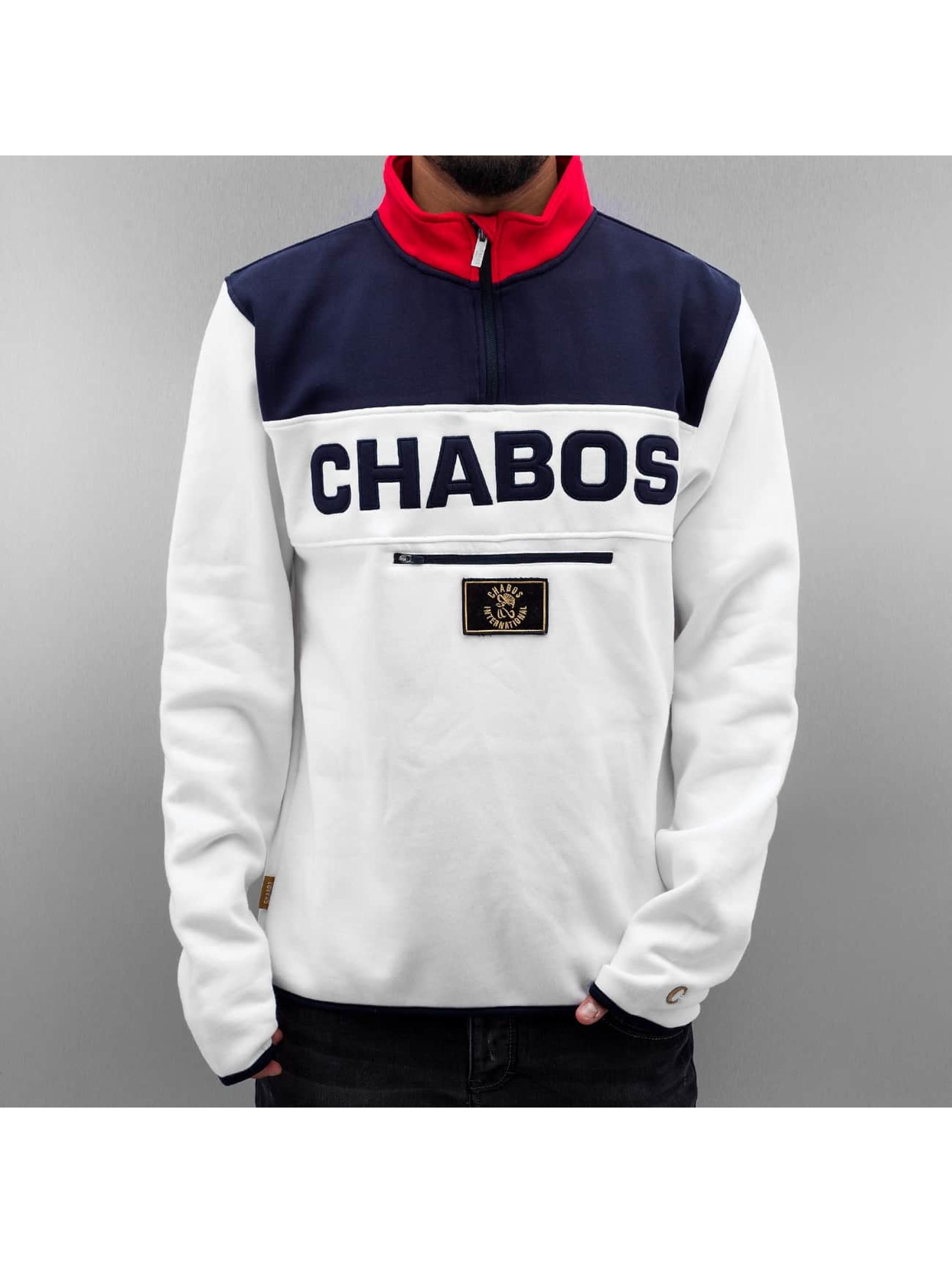 CHABOS IIVII Sweat & Pull Athletics Half-Zip blanc