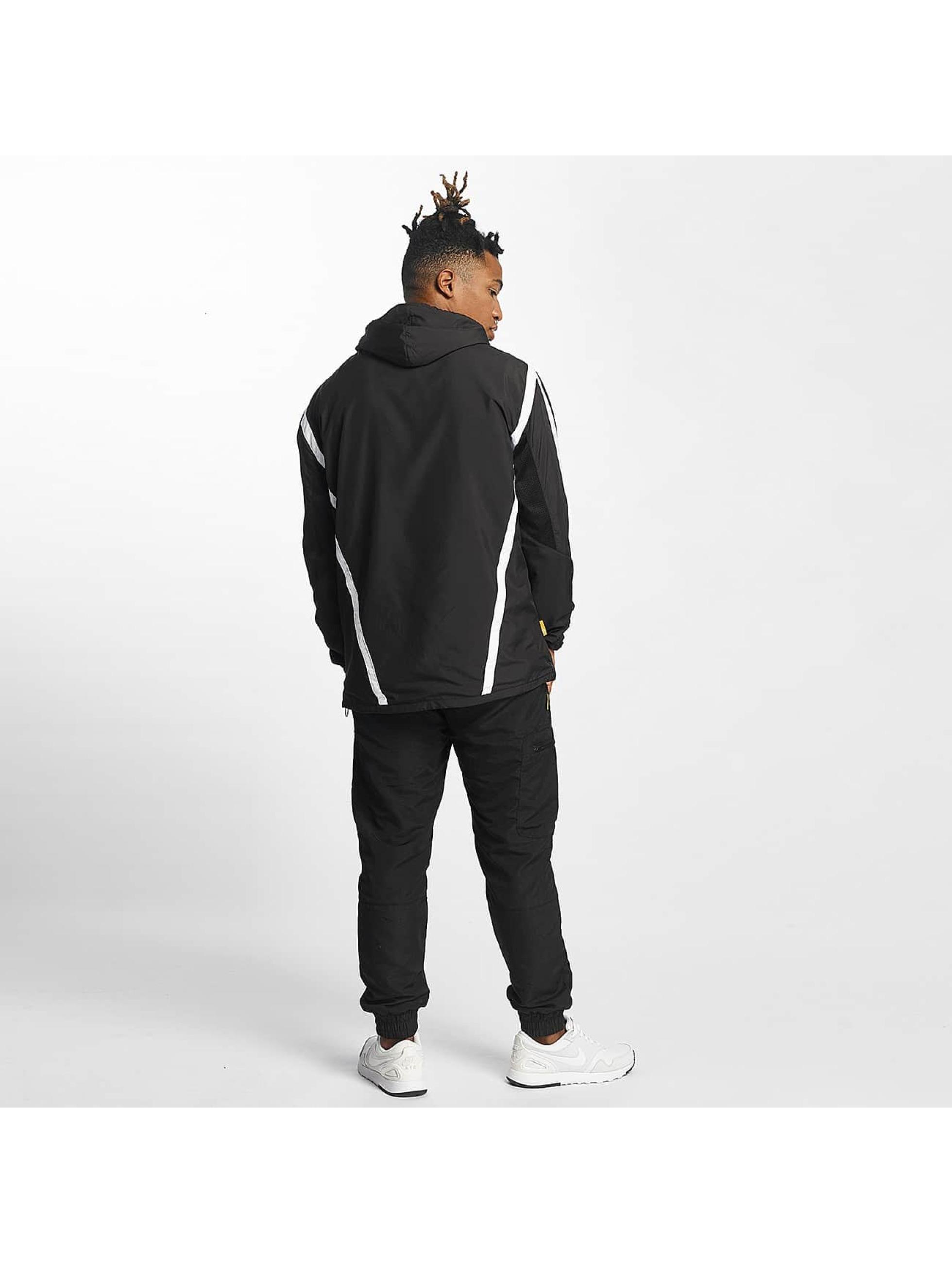 CHABOS IIVII Veste mi-saison légère Half Zip Hooded noir