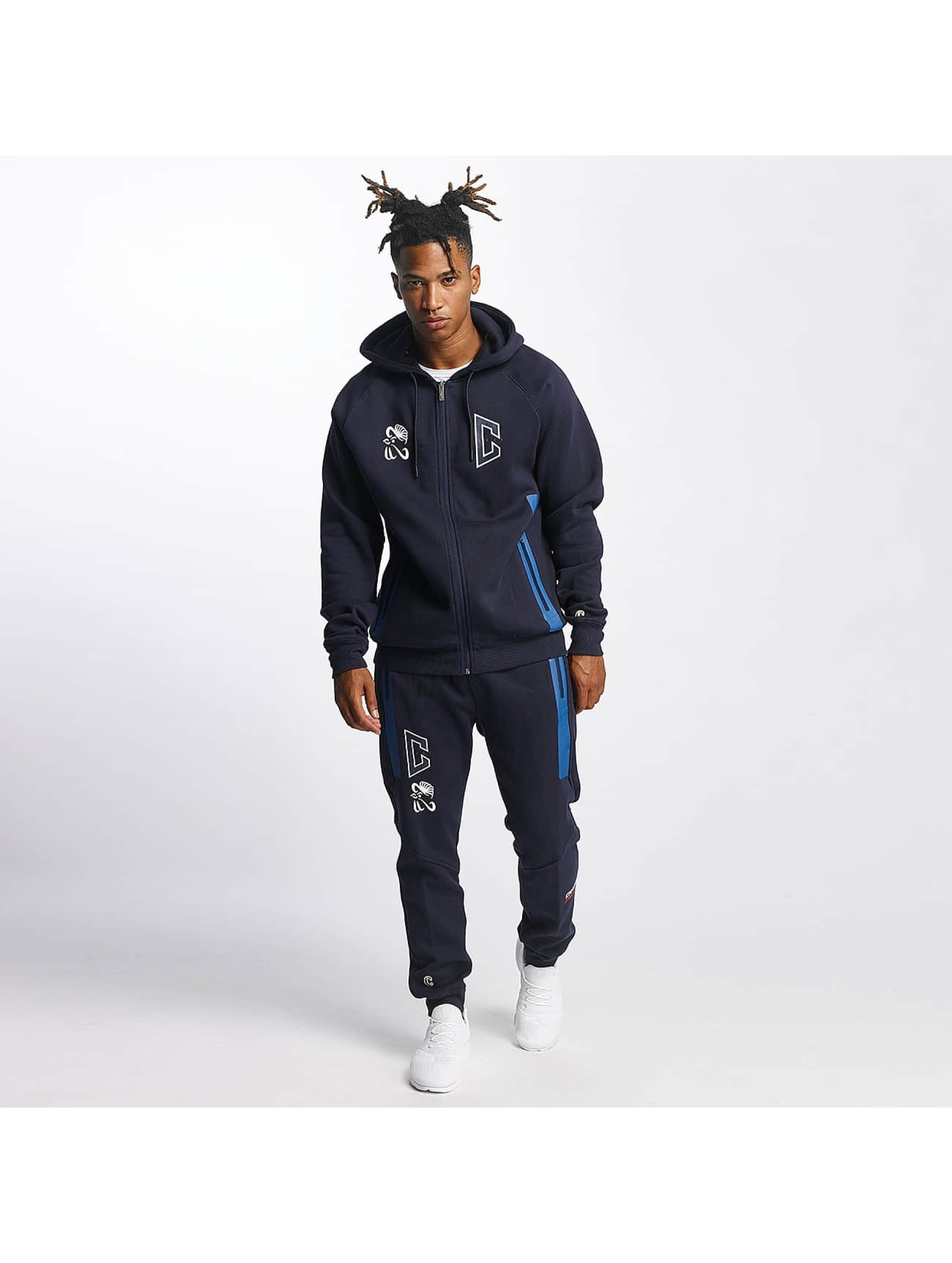 CHABOS IIVII Zip Hoodie Athletic Raglan Zipper blue