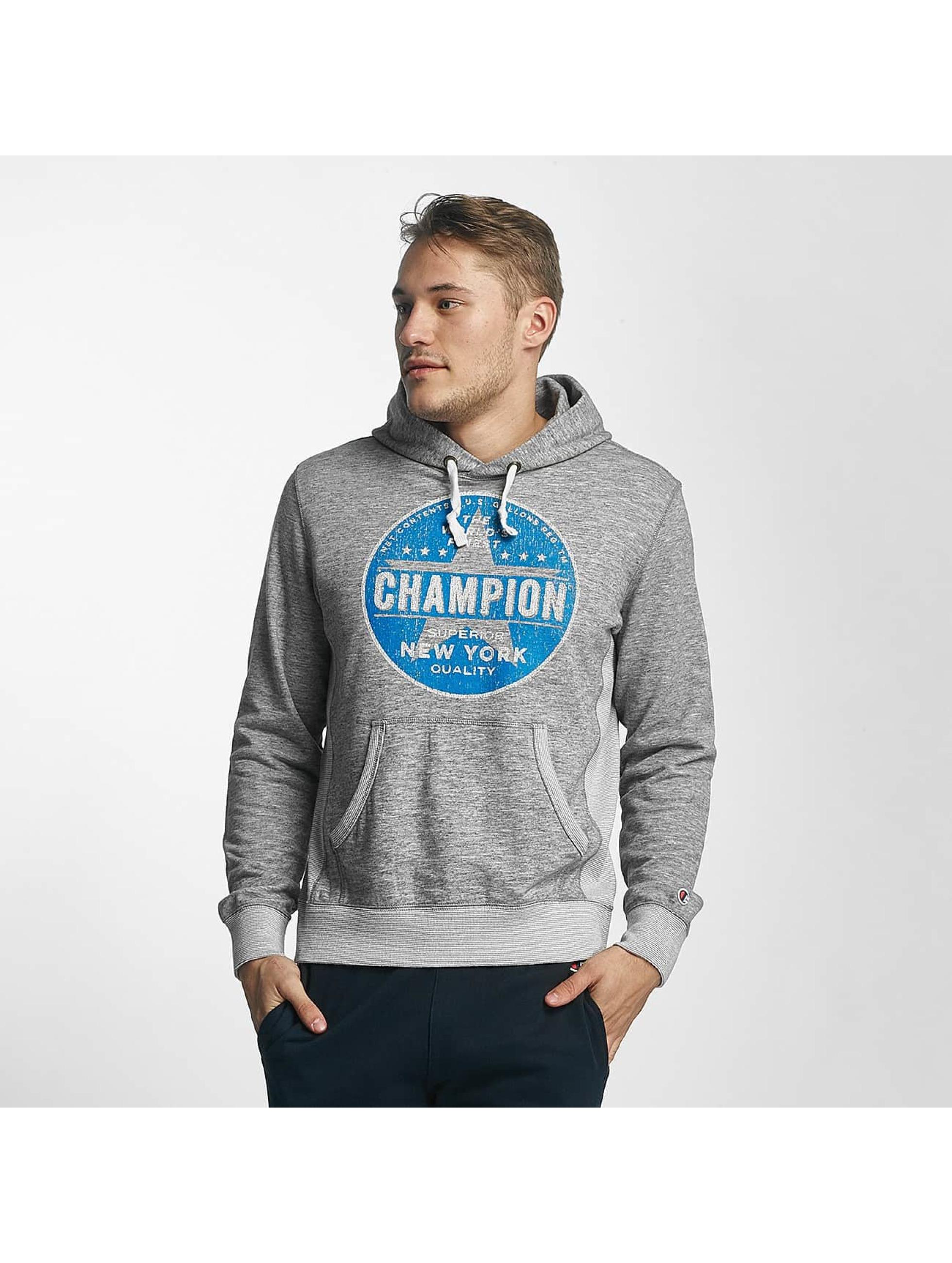Champion Athletics Bluzy z kapturem New York szary