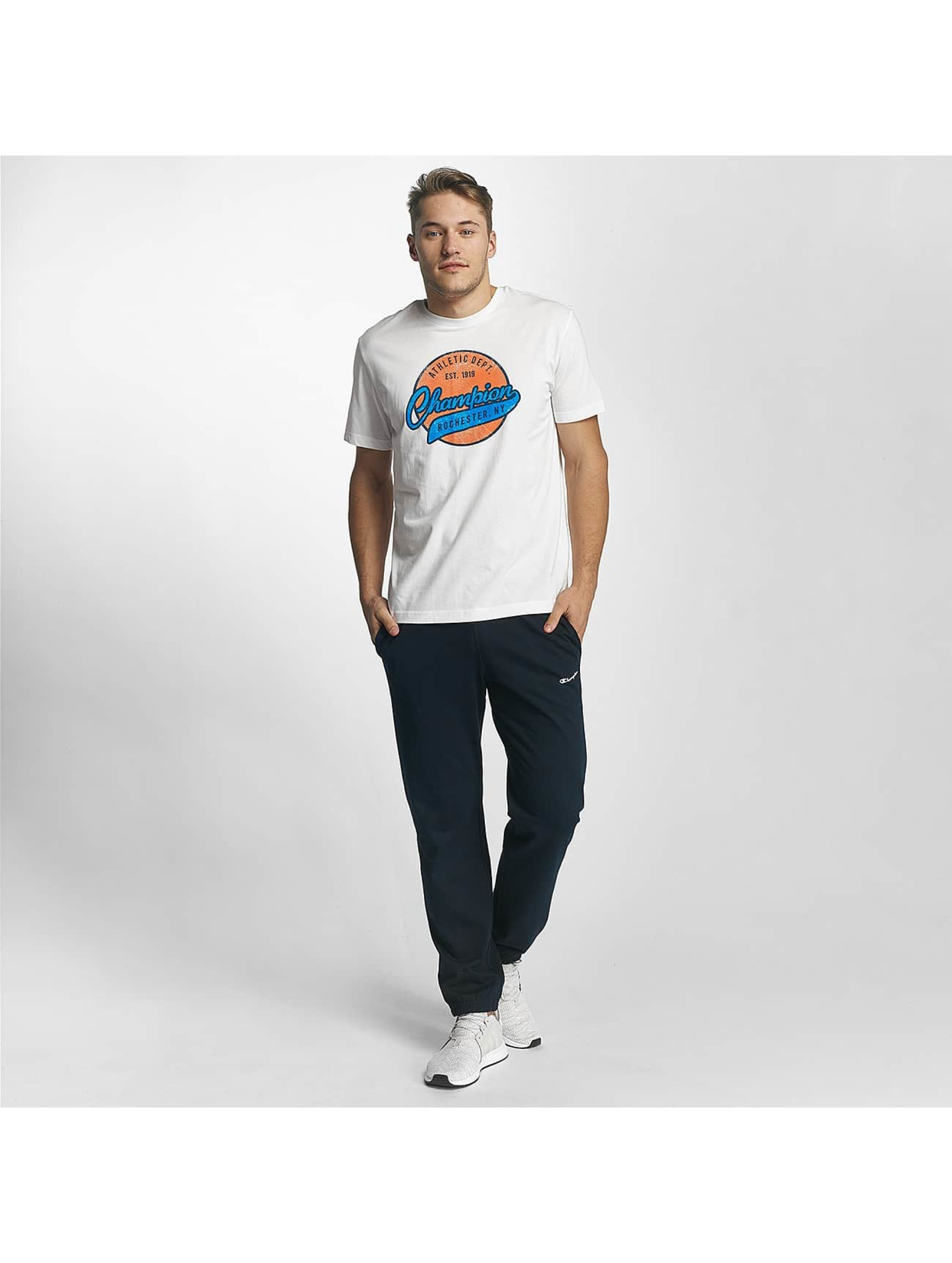 Champion Athletics T-Shirty Logo bialy