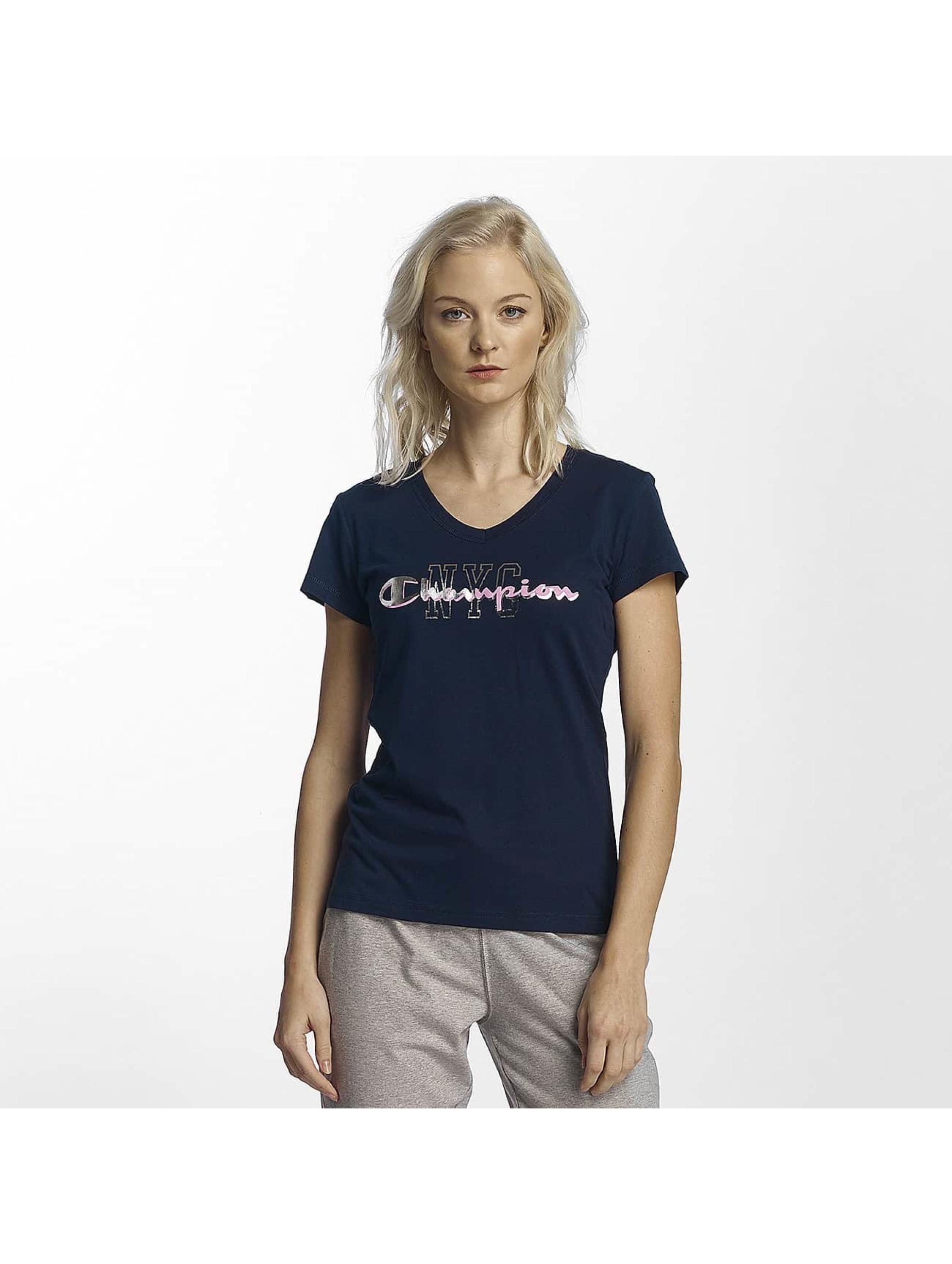 Champion Athletics T-Shirty NYC niebieski