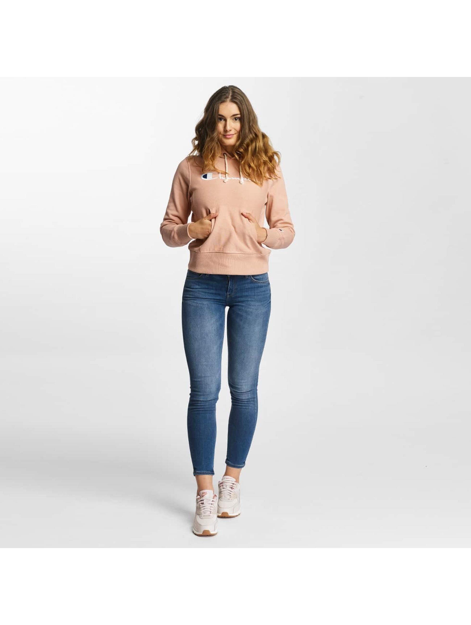 Champion Bluzy z kapturem Classic rózowy