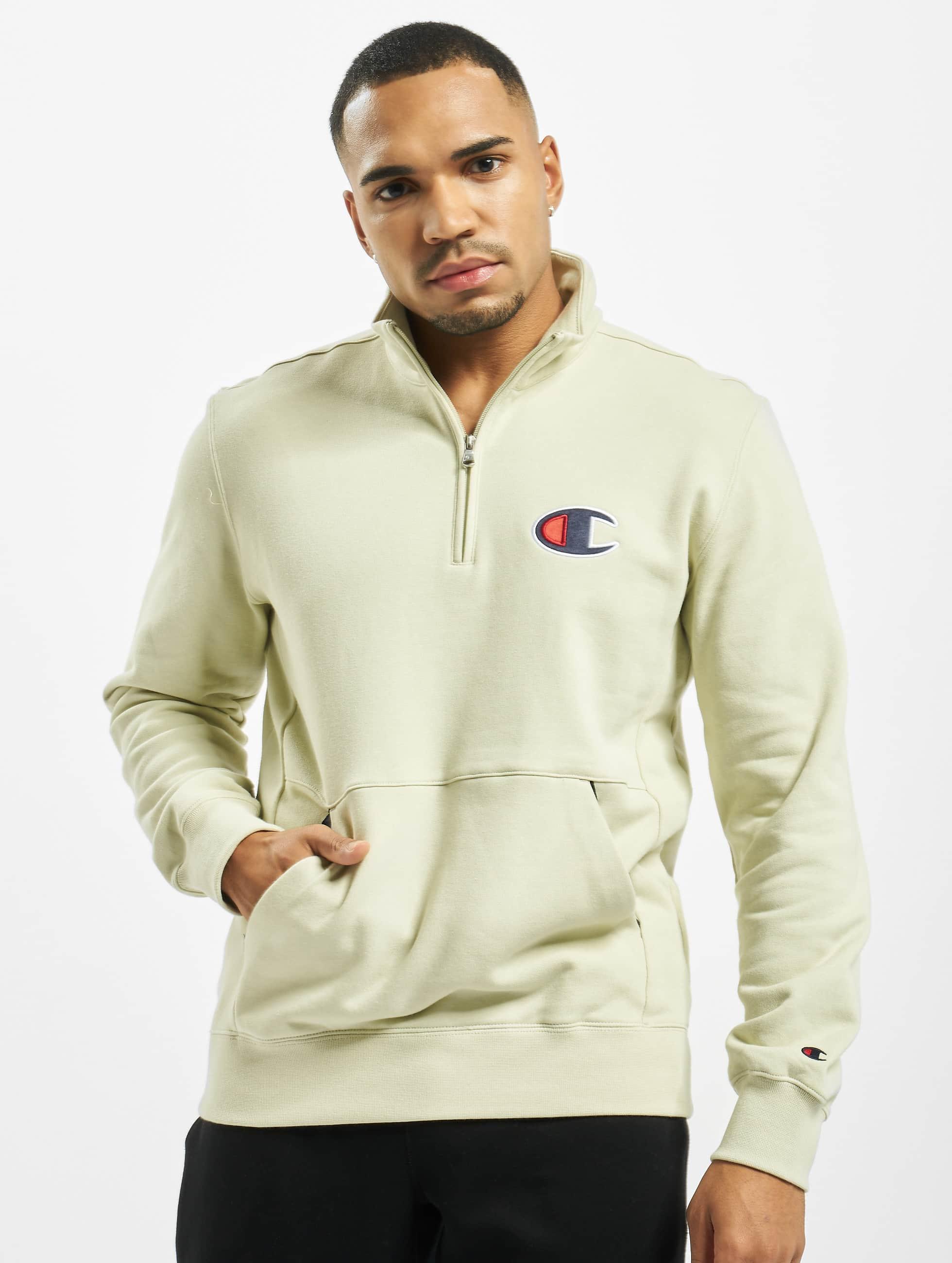 Champion Rochester Half Zip Sweatshirt Celadon Tint