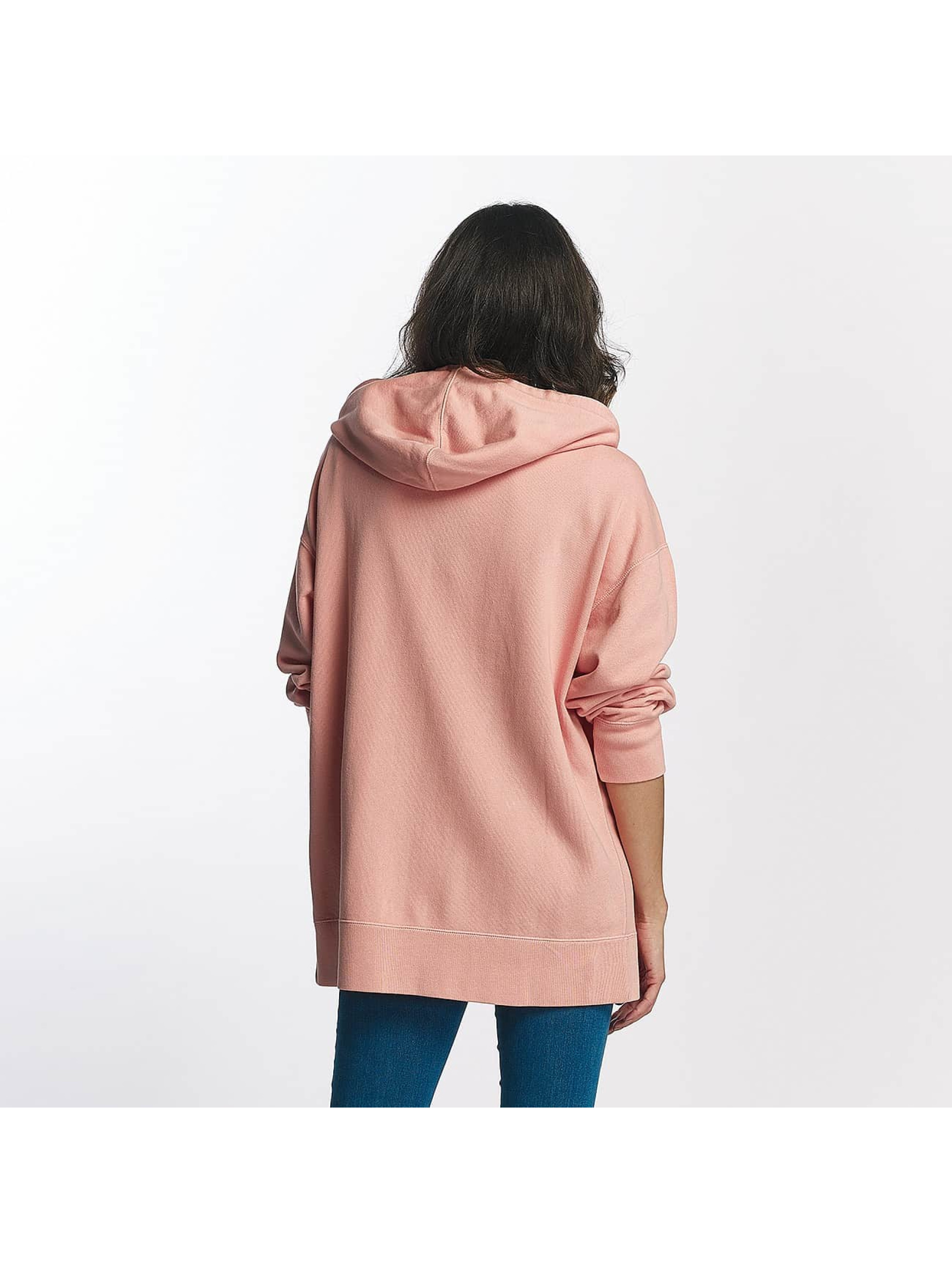 Champion Zip Hoodie Champion Oversize Zip Hoody Rose rosa