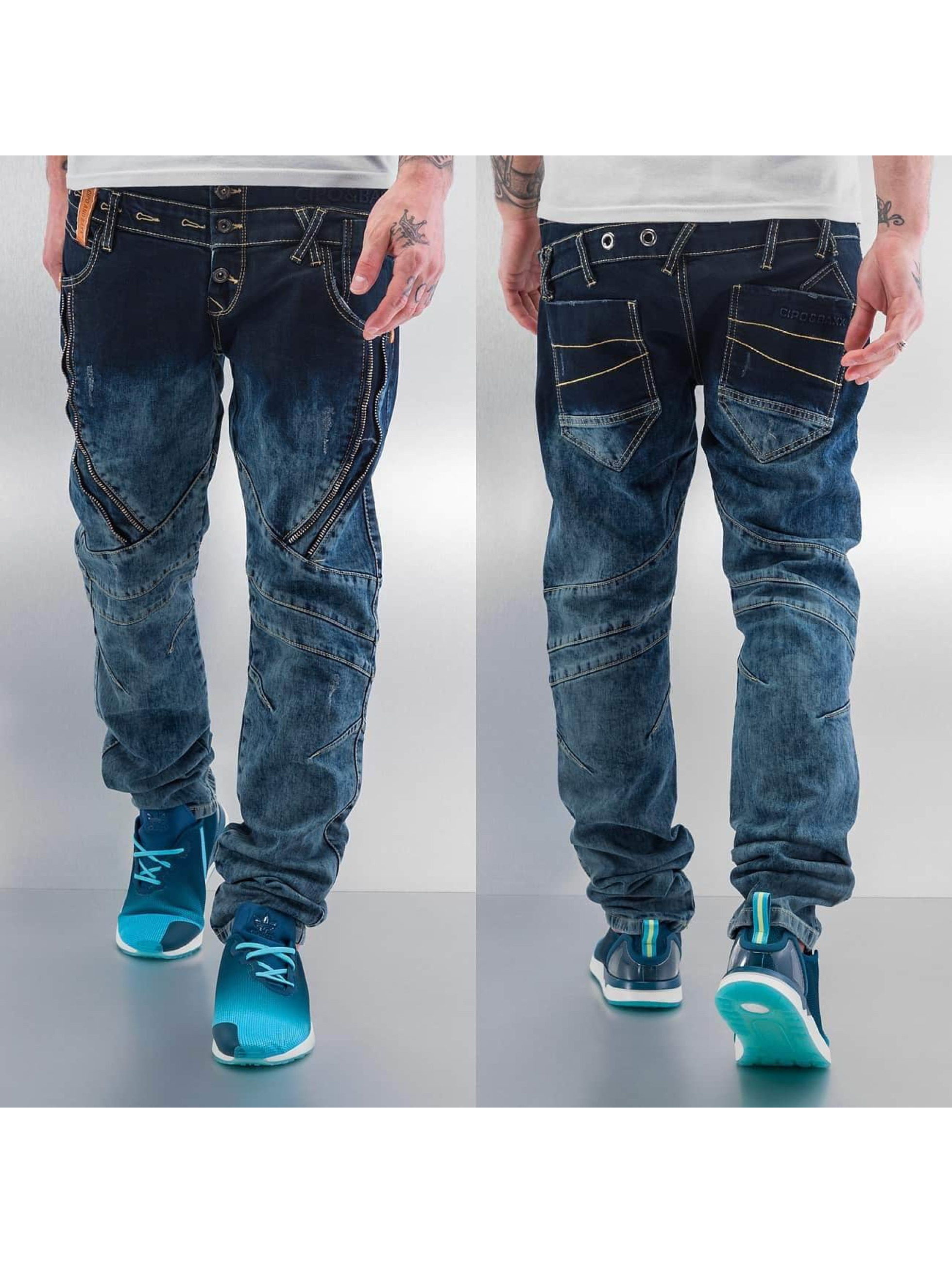 Cipo & Baxx Dżinsy straight fit Elias niebieski