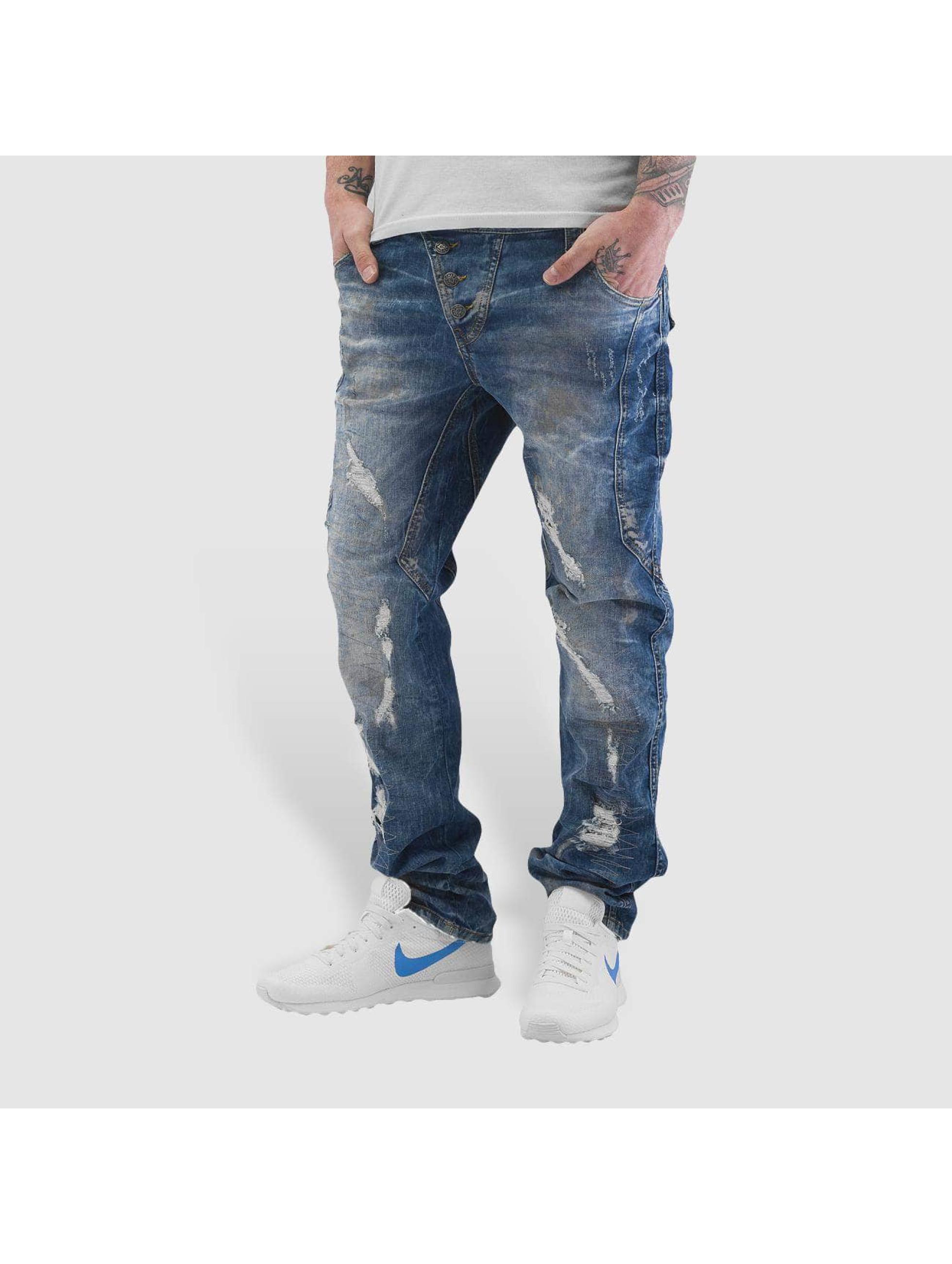 Cipo & Baxx Dżinsy straight fit Washed niebieski