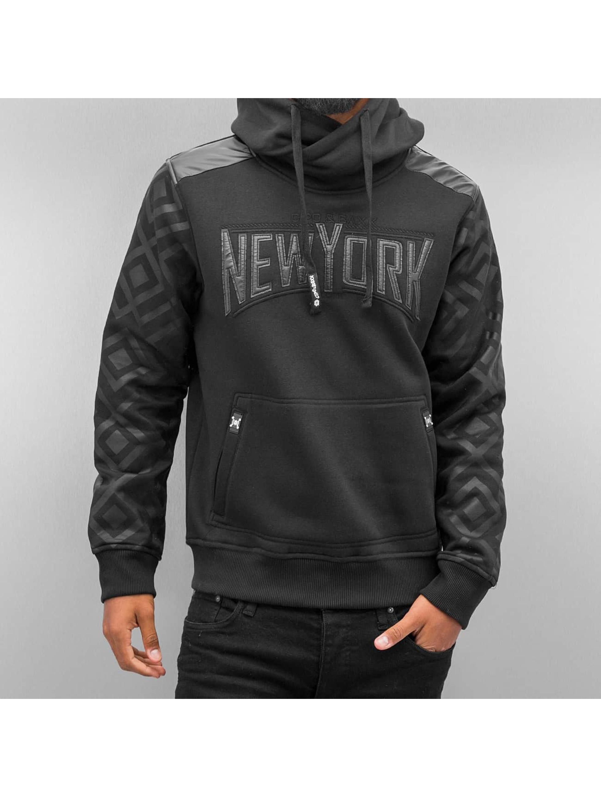 Cipo & Baxx Hoody New York schwarz