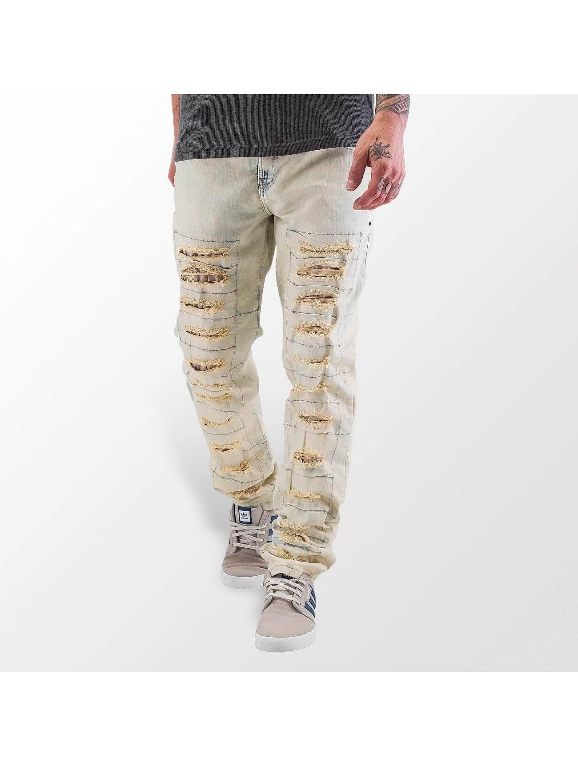 Cipo & Baxx Jean coupe droite Bleach beige