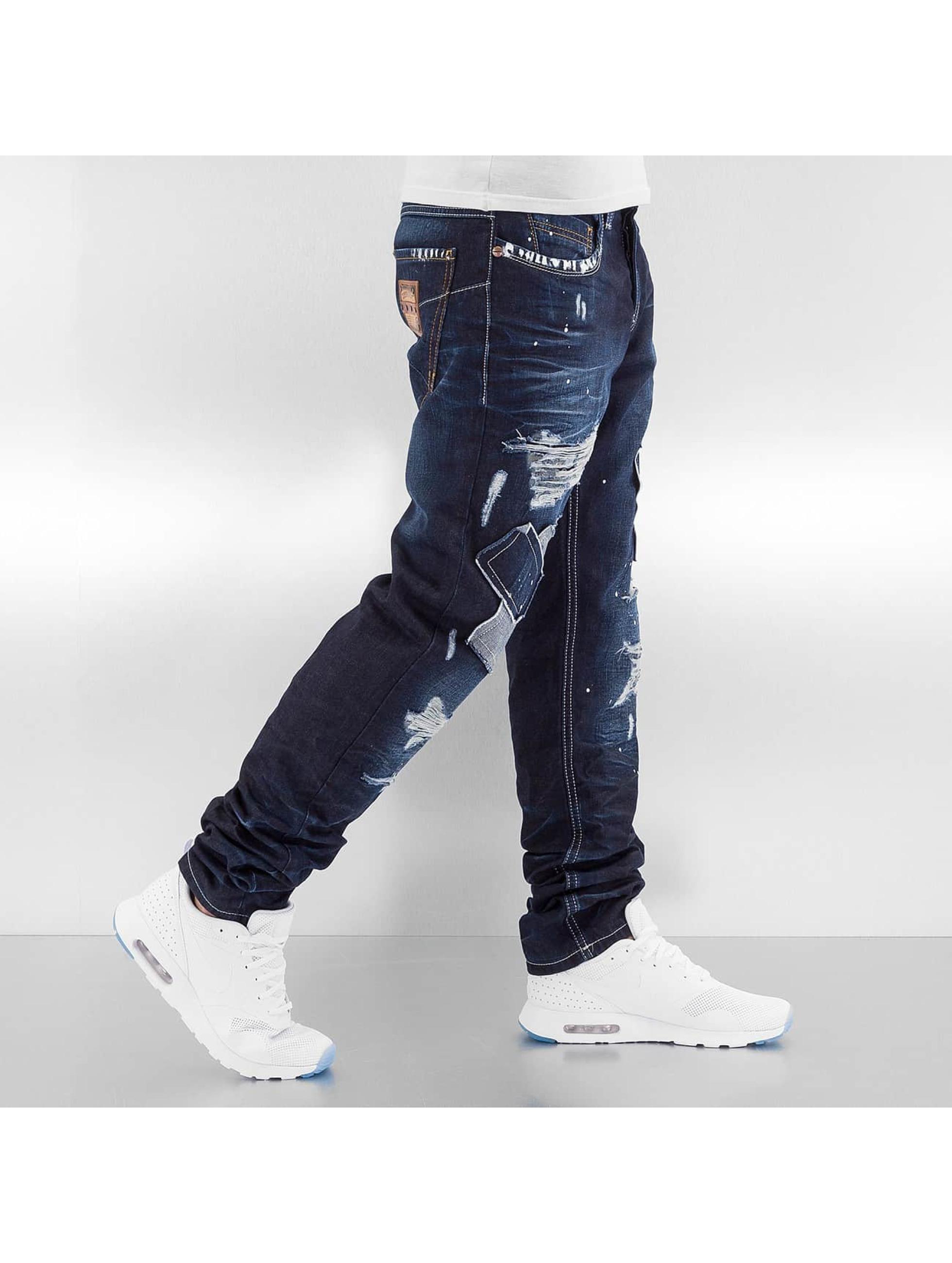 Cipo & Baxx Jean coupe droite Patched bleu