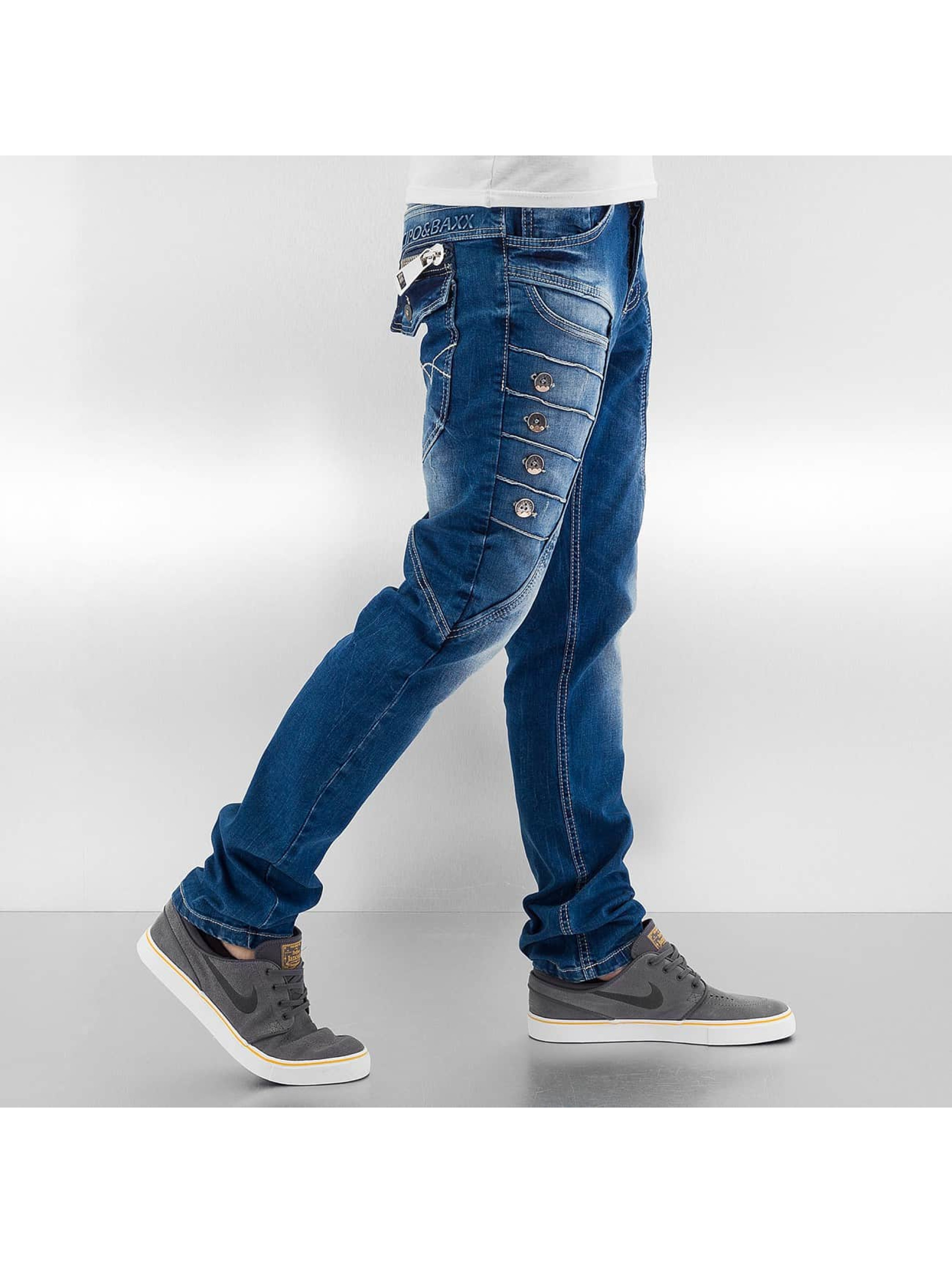 Cipo & Baxx Jean coupe droite Button bleu