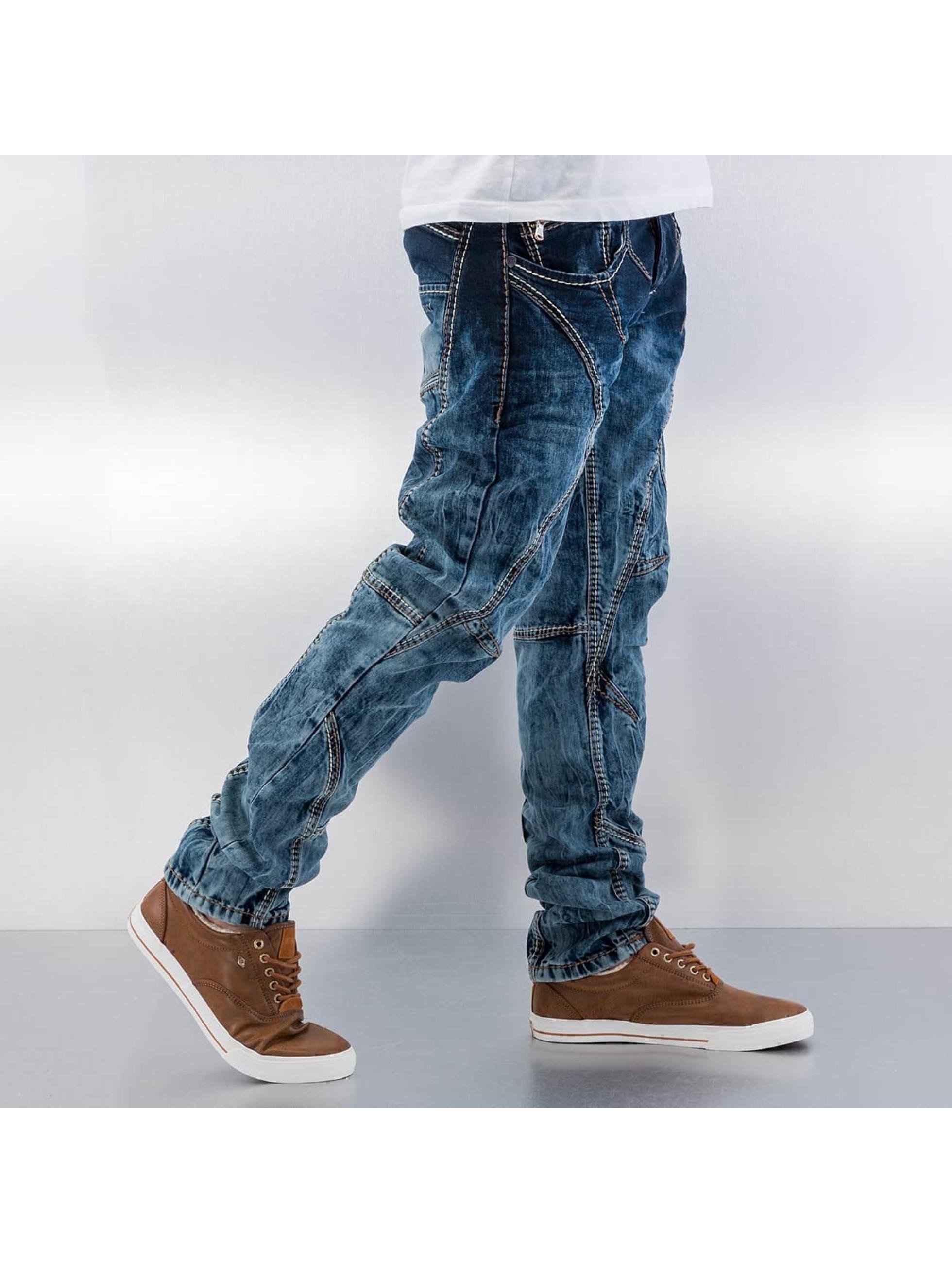 Cipo & Baxx Jean coupe droite Topstitching bleu