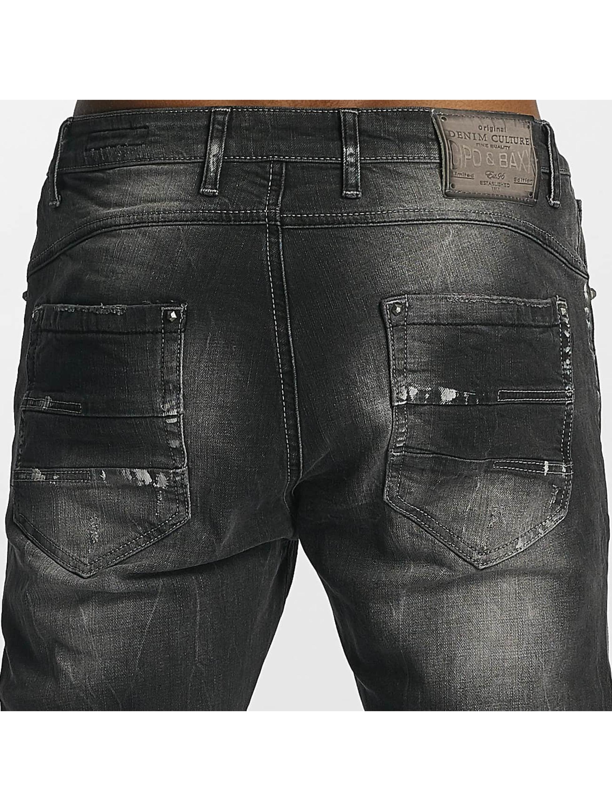 Cipo & Baxx Jean coupe droite Tom gris