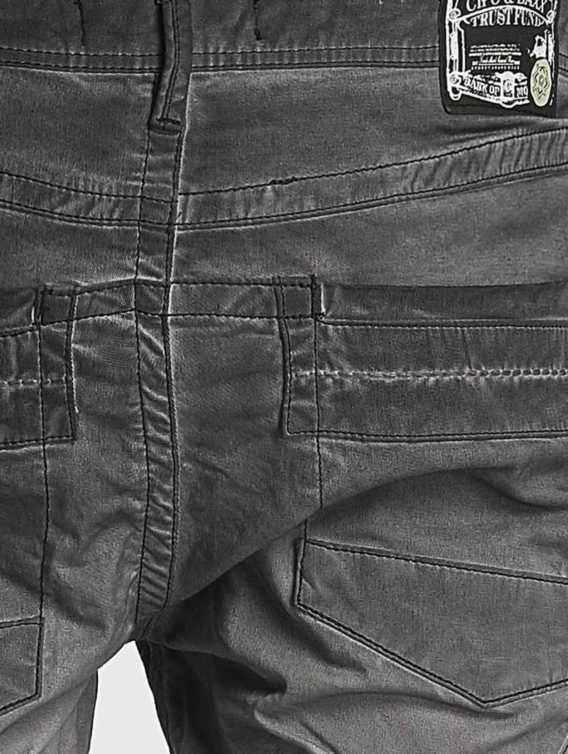 Cipo & Baxx Jean coupe droite Straight Fit gris