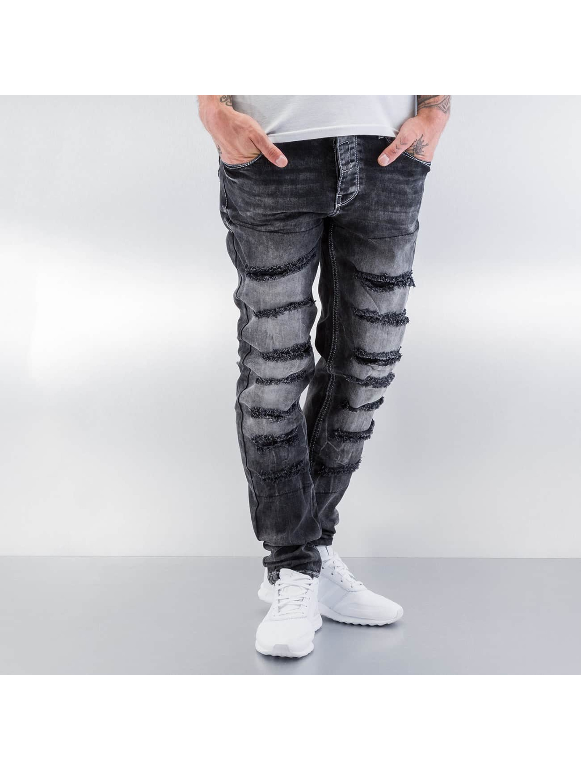 Cipo & Baxx Jean skinny Destroyed gris